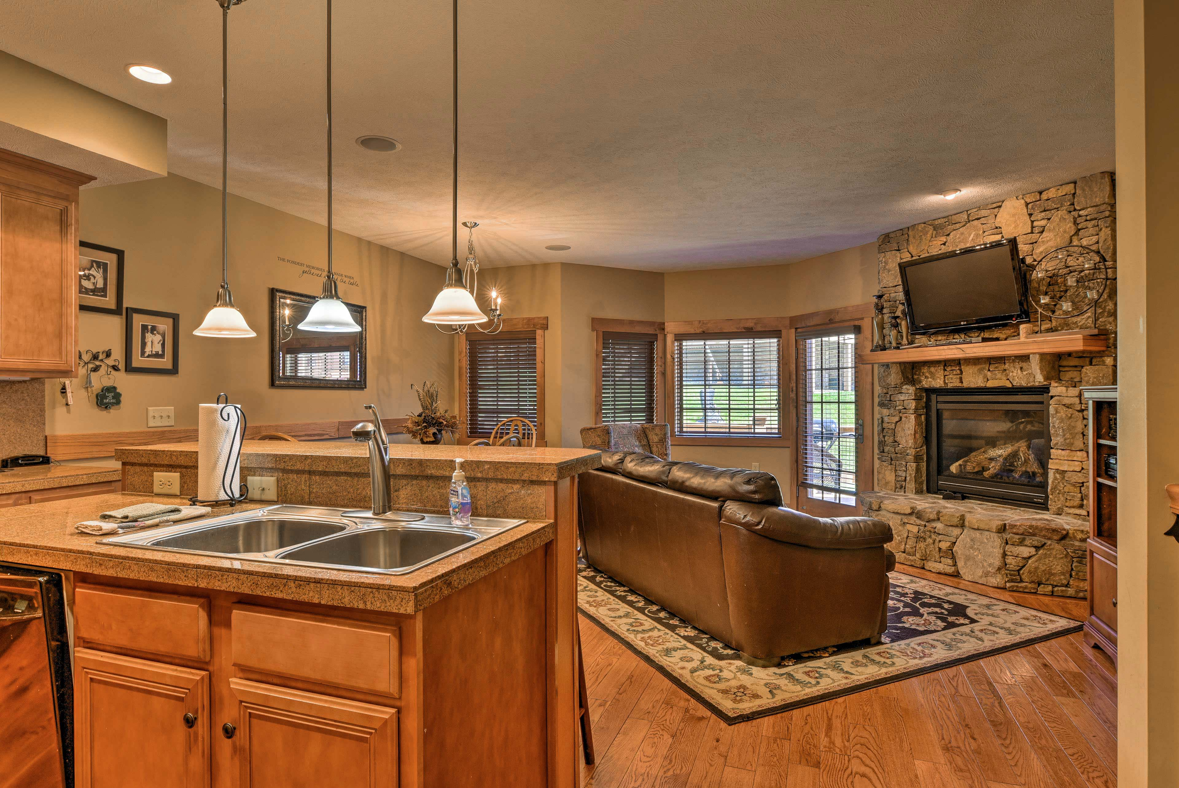 This spacious vacation rental townhome accommodates 8 guests.