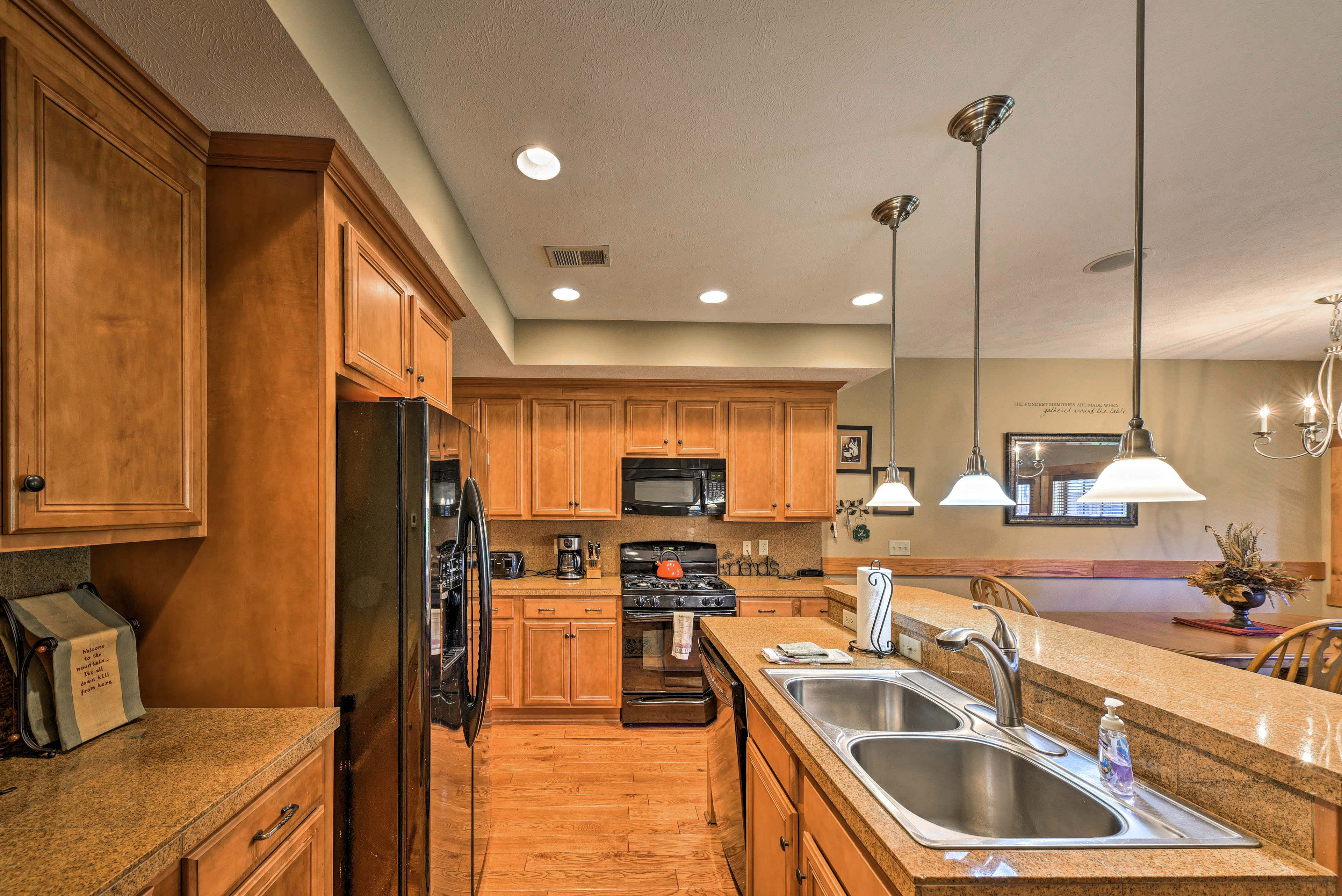 Whip up a delicious meal in the fully equipped kitchen with updated appliances.