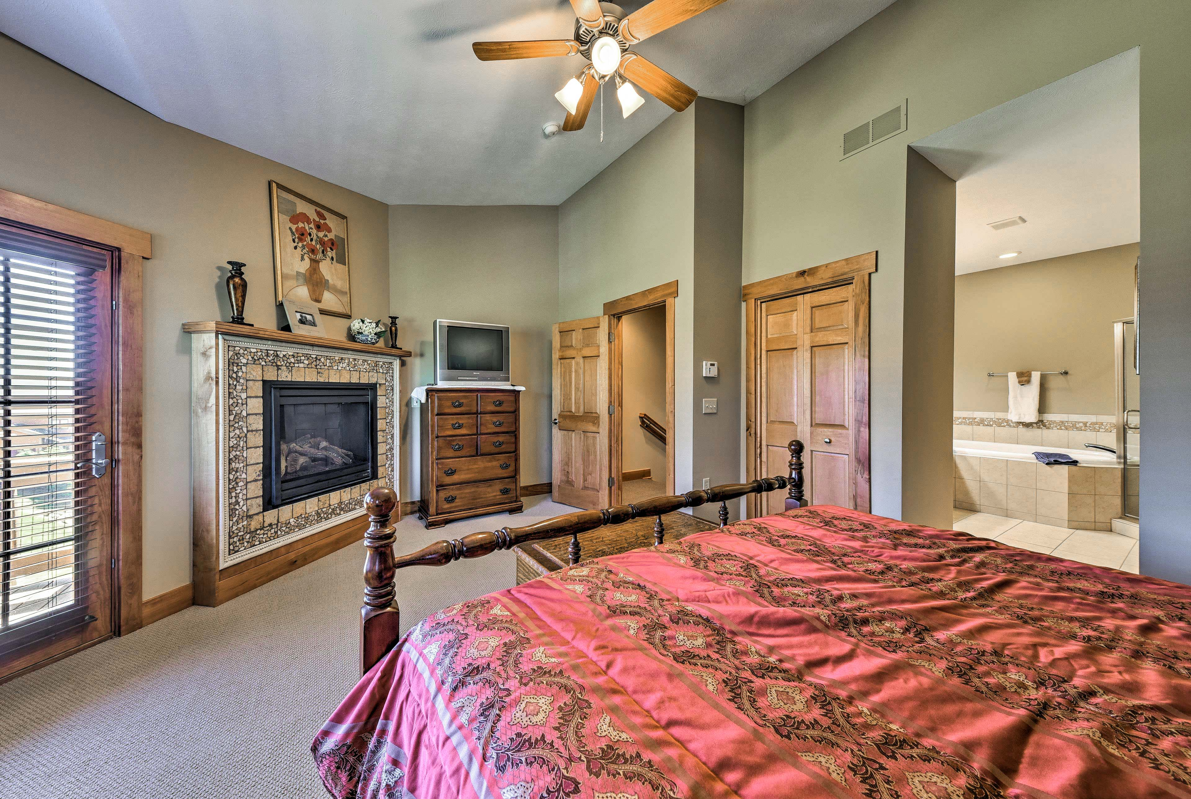 Complete with a fireplace, you may never want to leave this cozy bedroom!