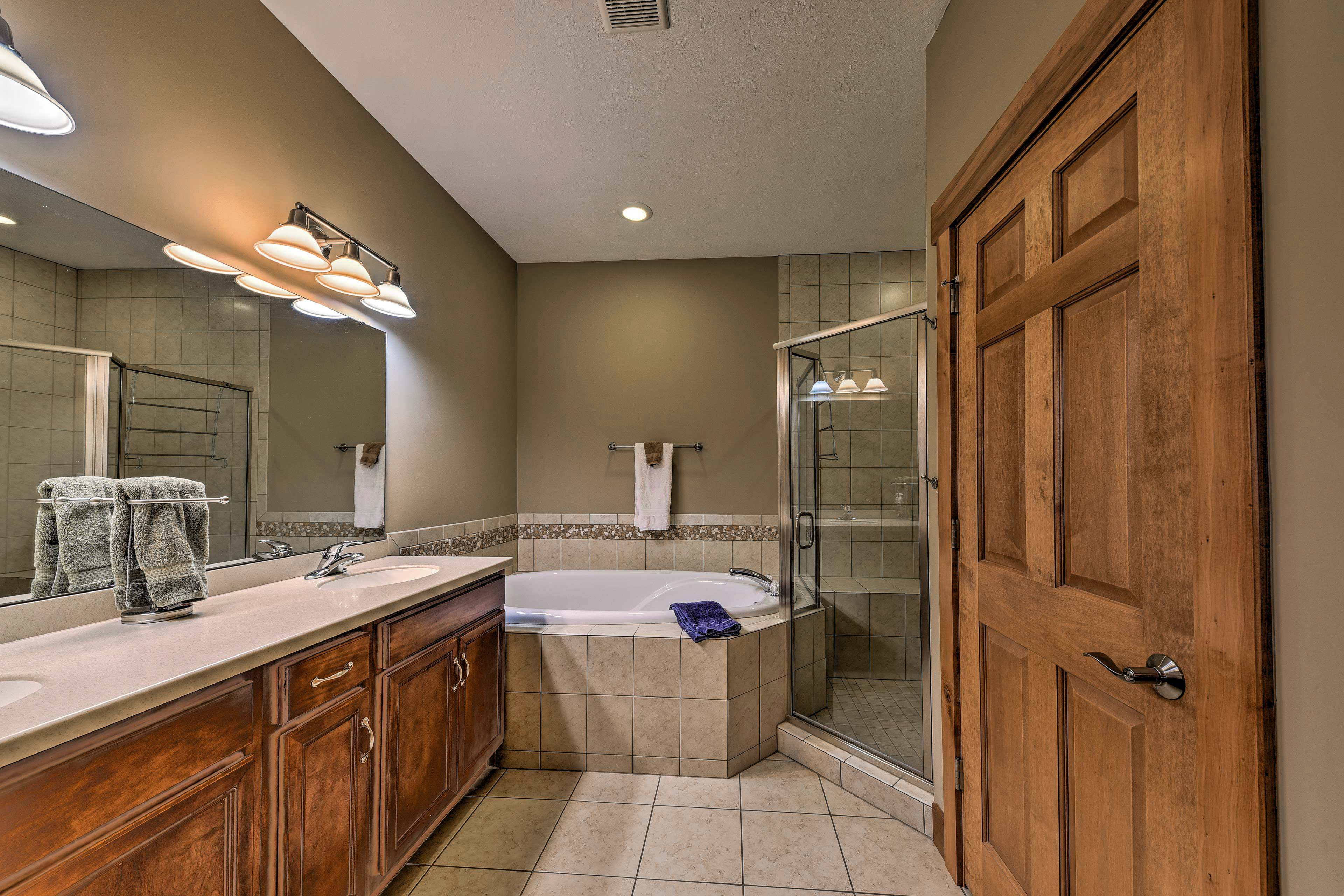 You'll love the luxurious en-suite master bathroom.