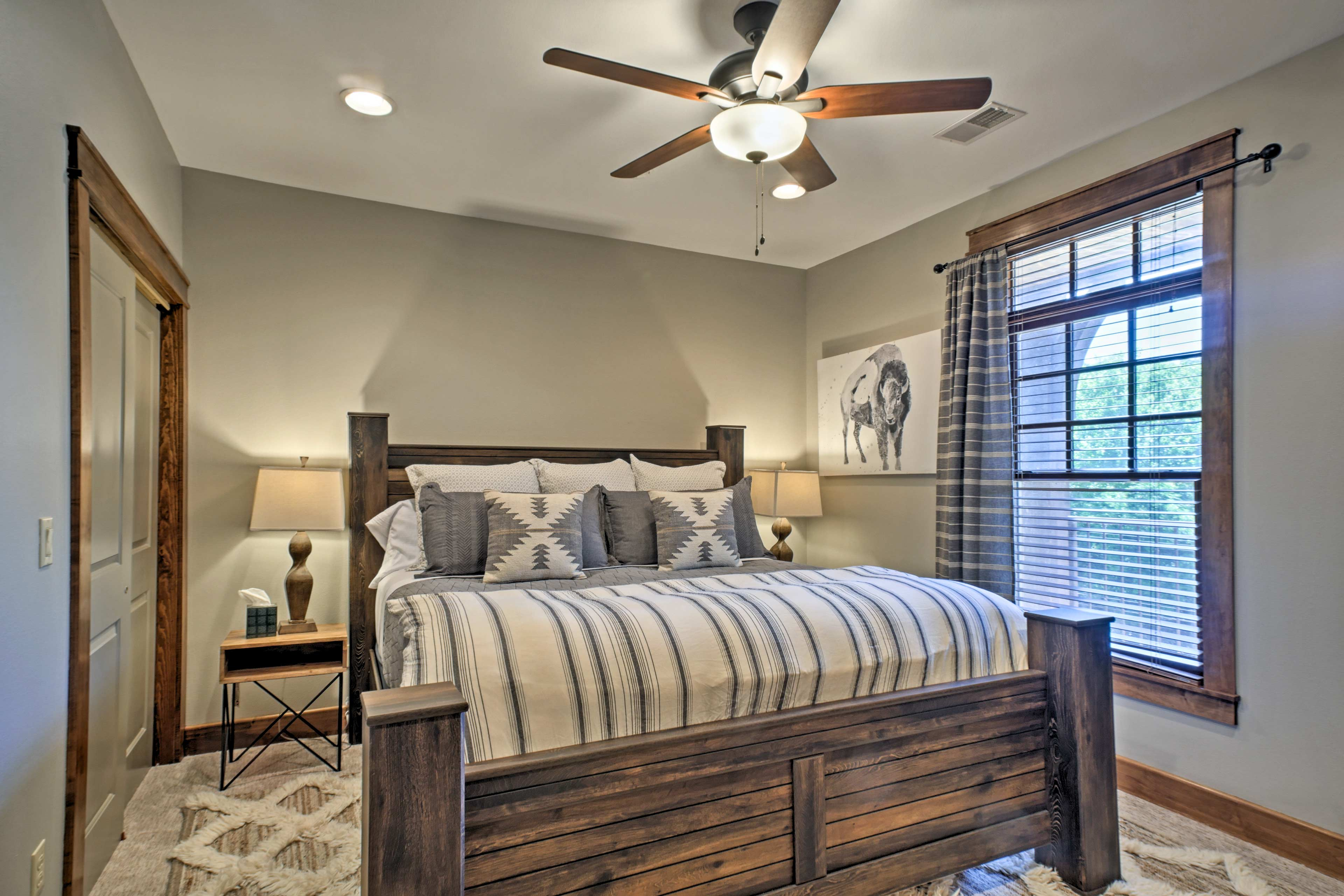 The second master bedroom is perfect for couples.