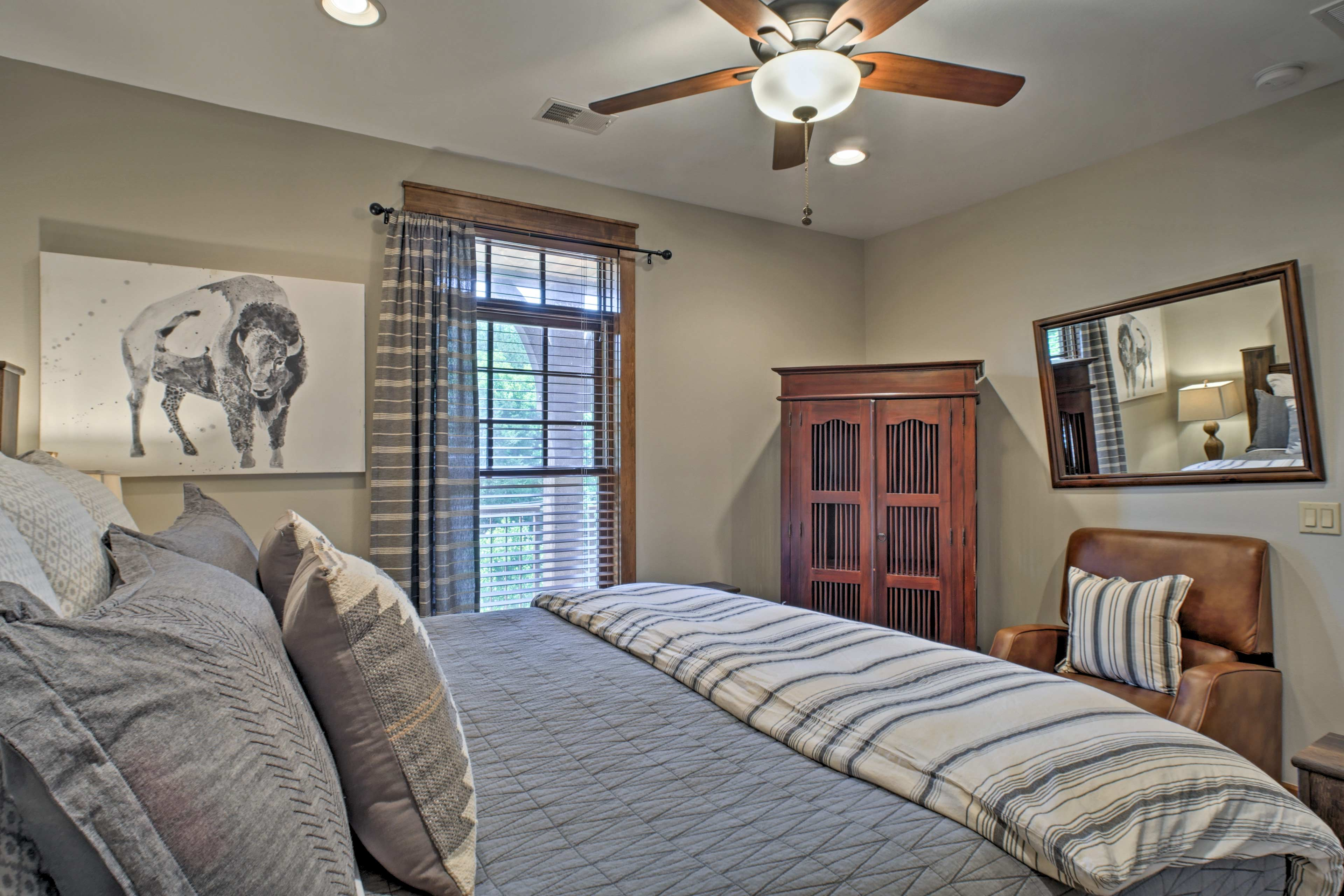 You'll feel right at home as you rest on the king bed.