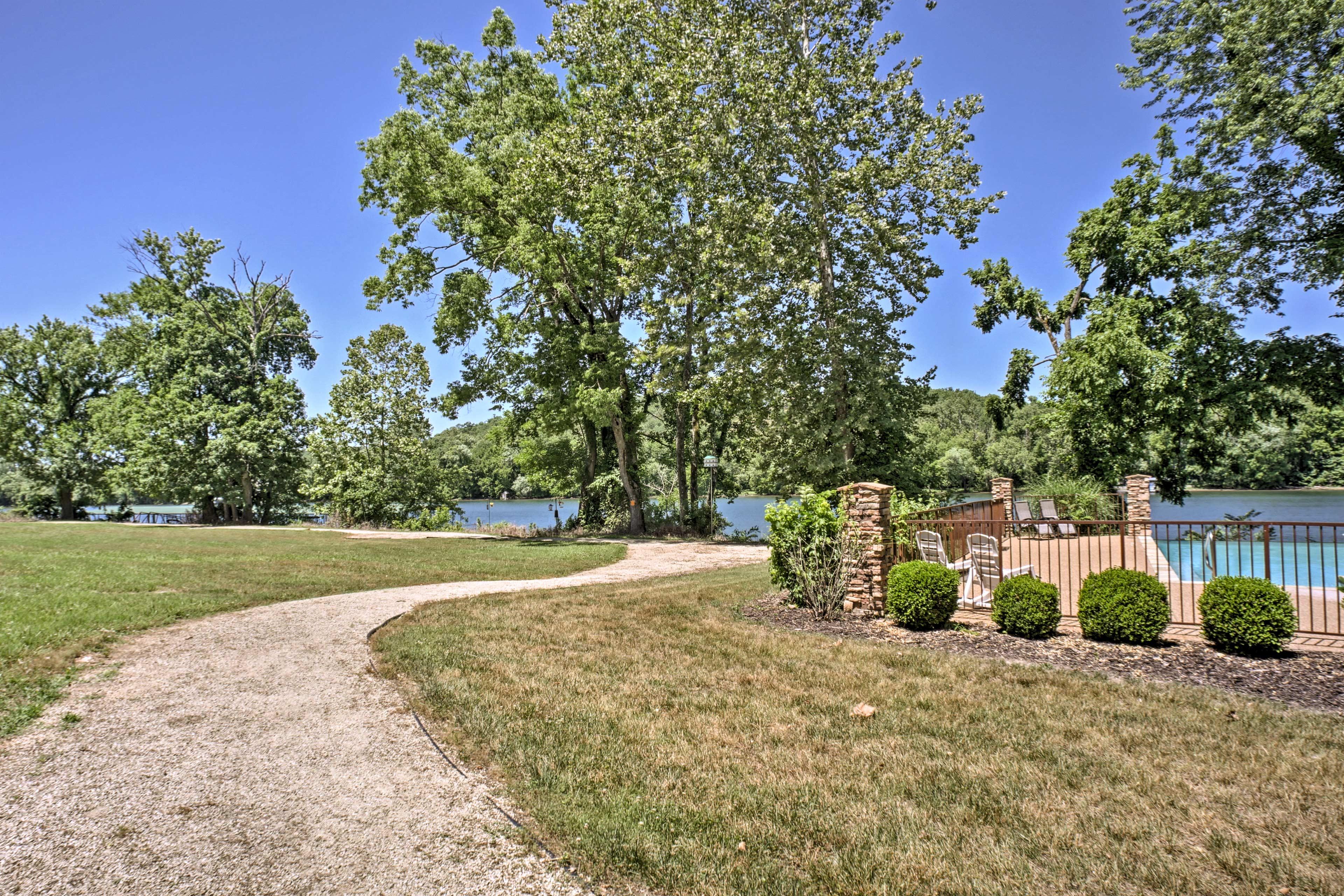 Take a walk down the path alongside the lake!