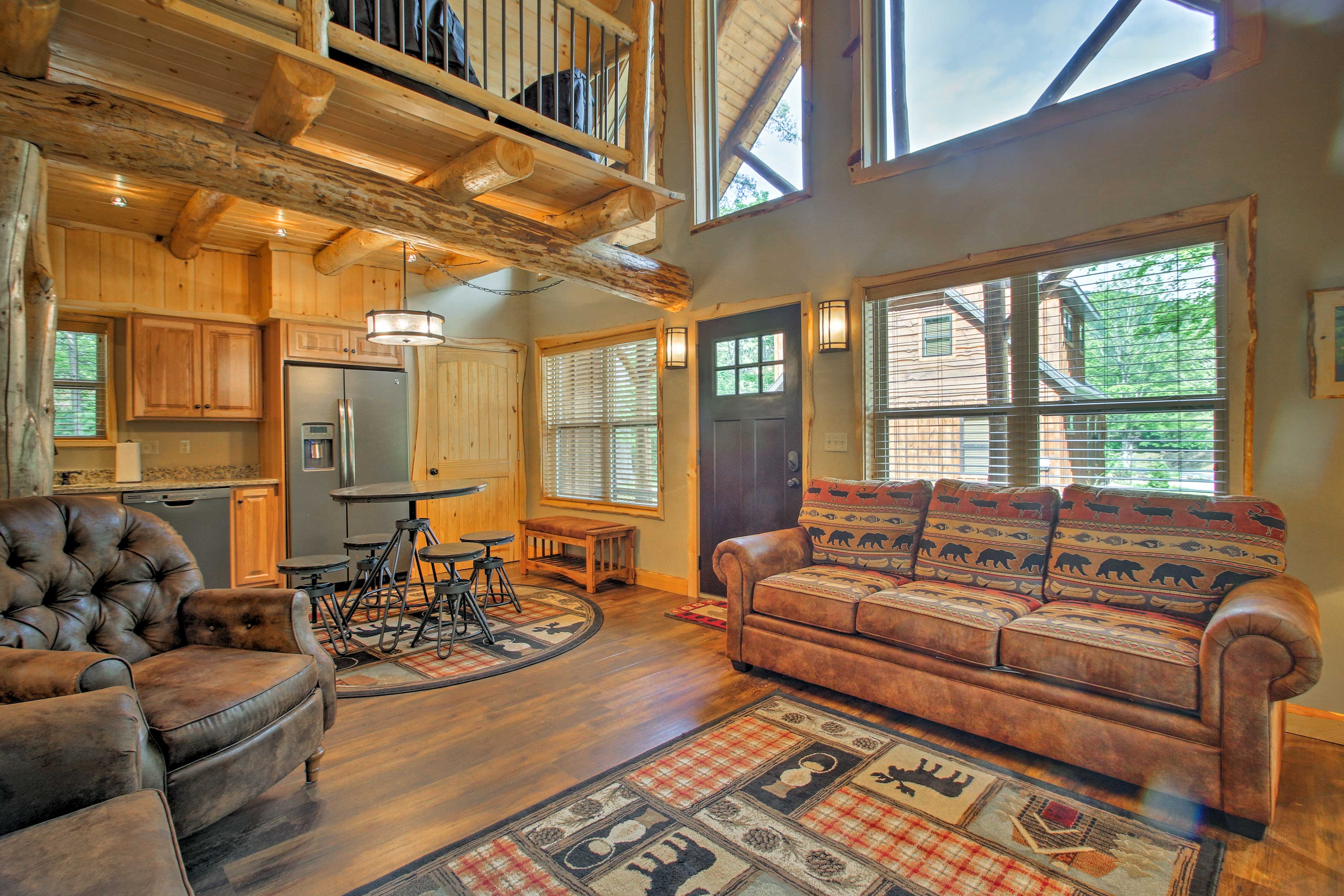 There's ample room in this living room for everyone to relax in comfort!