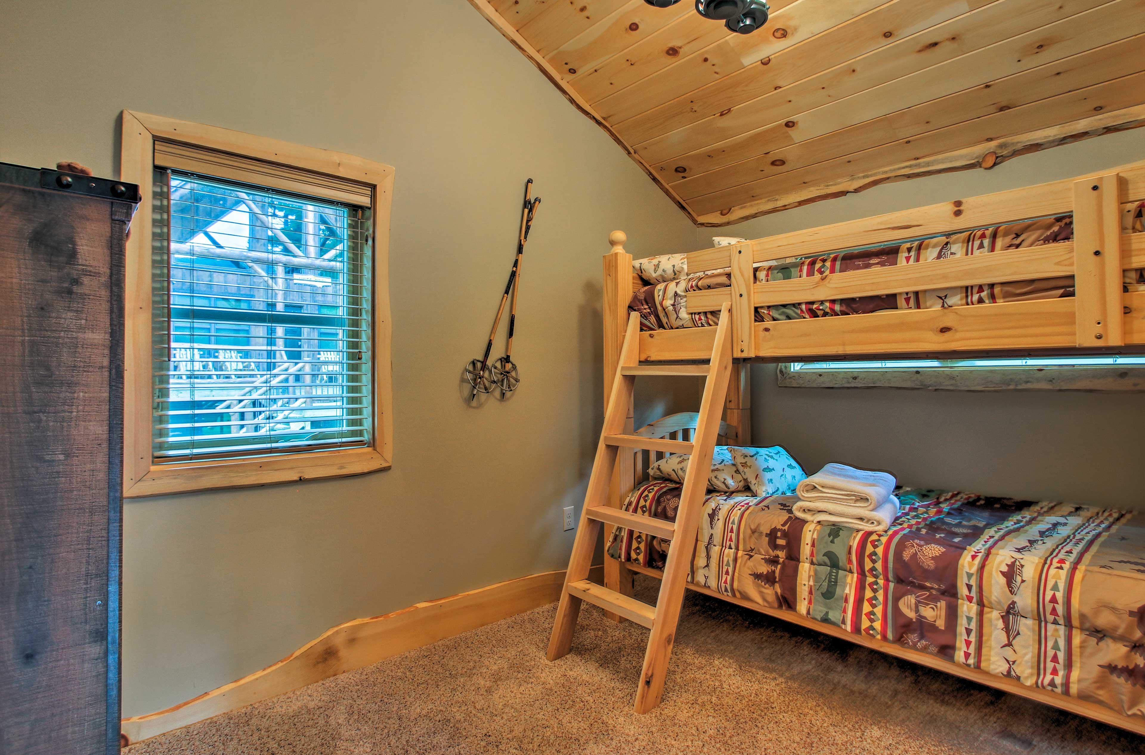 The bunk room, with a twin-over-twin bunk bed, is perfect for kids!