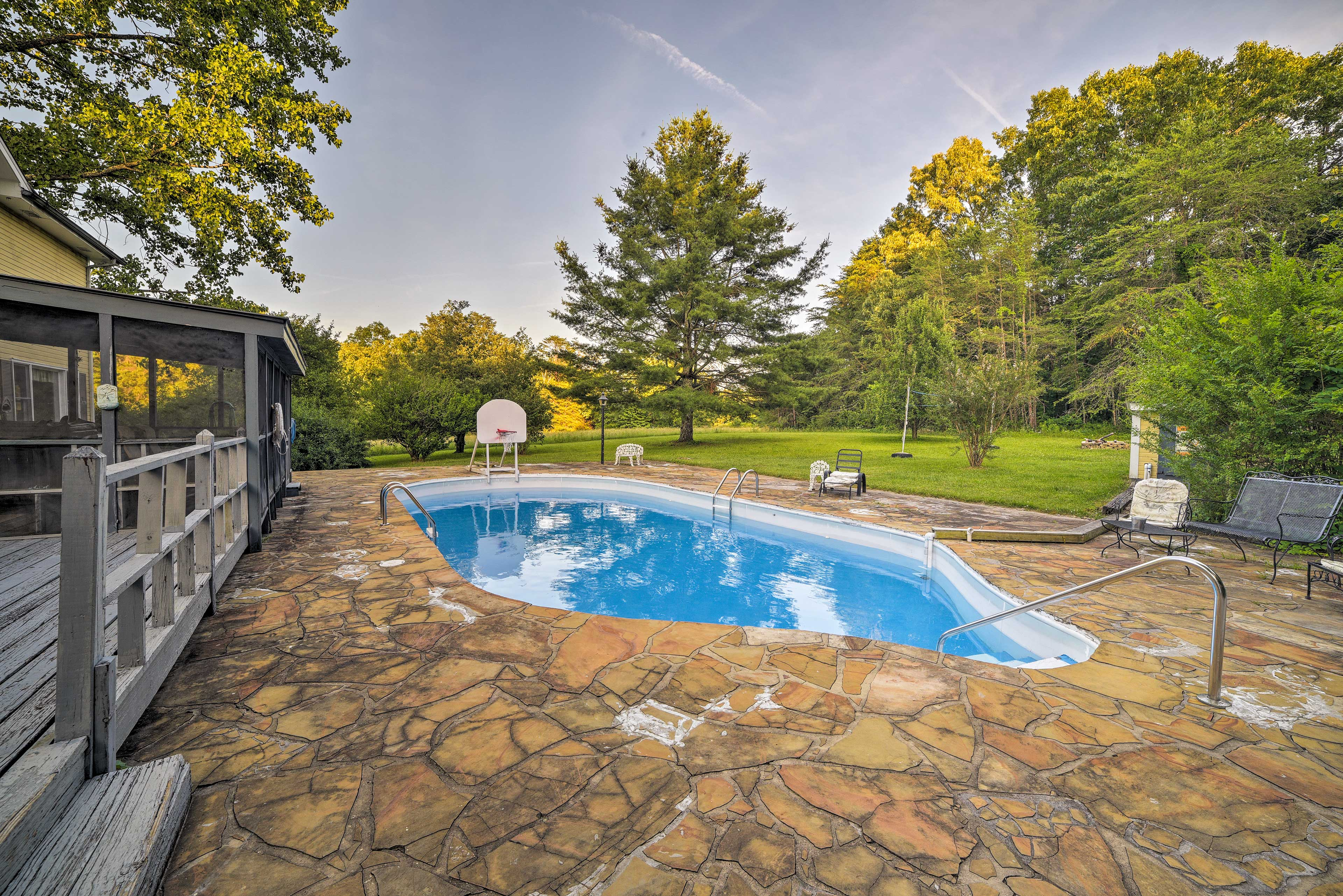 Beat the heat with the large pool!