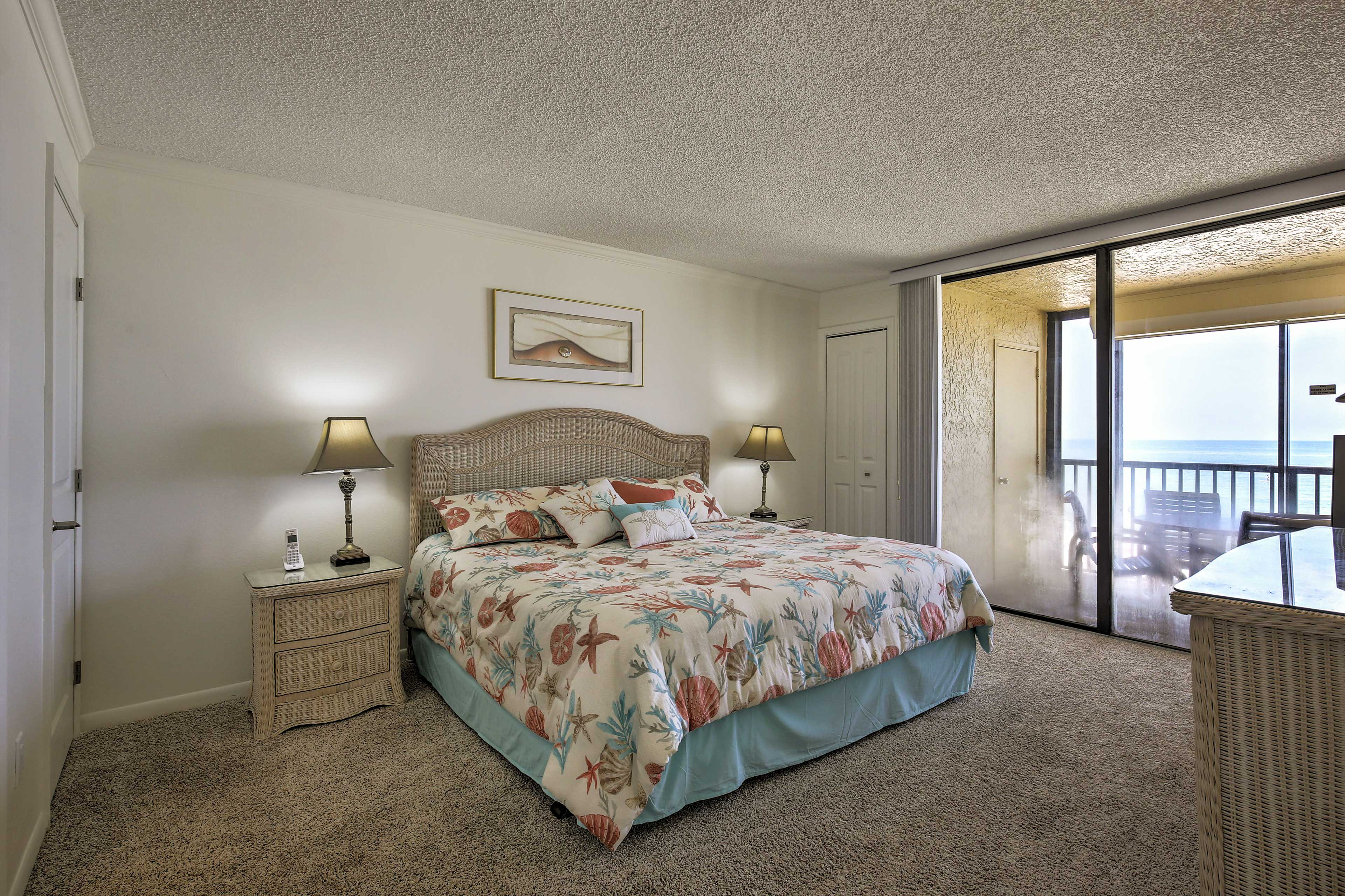 Retreat to the first bedroom for some privacy.