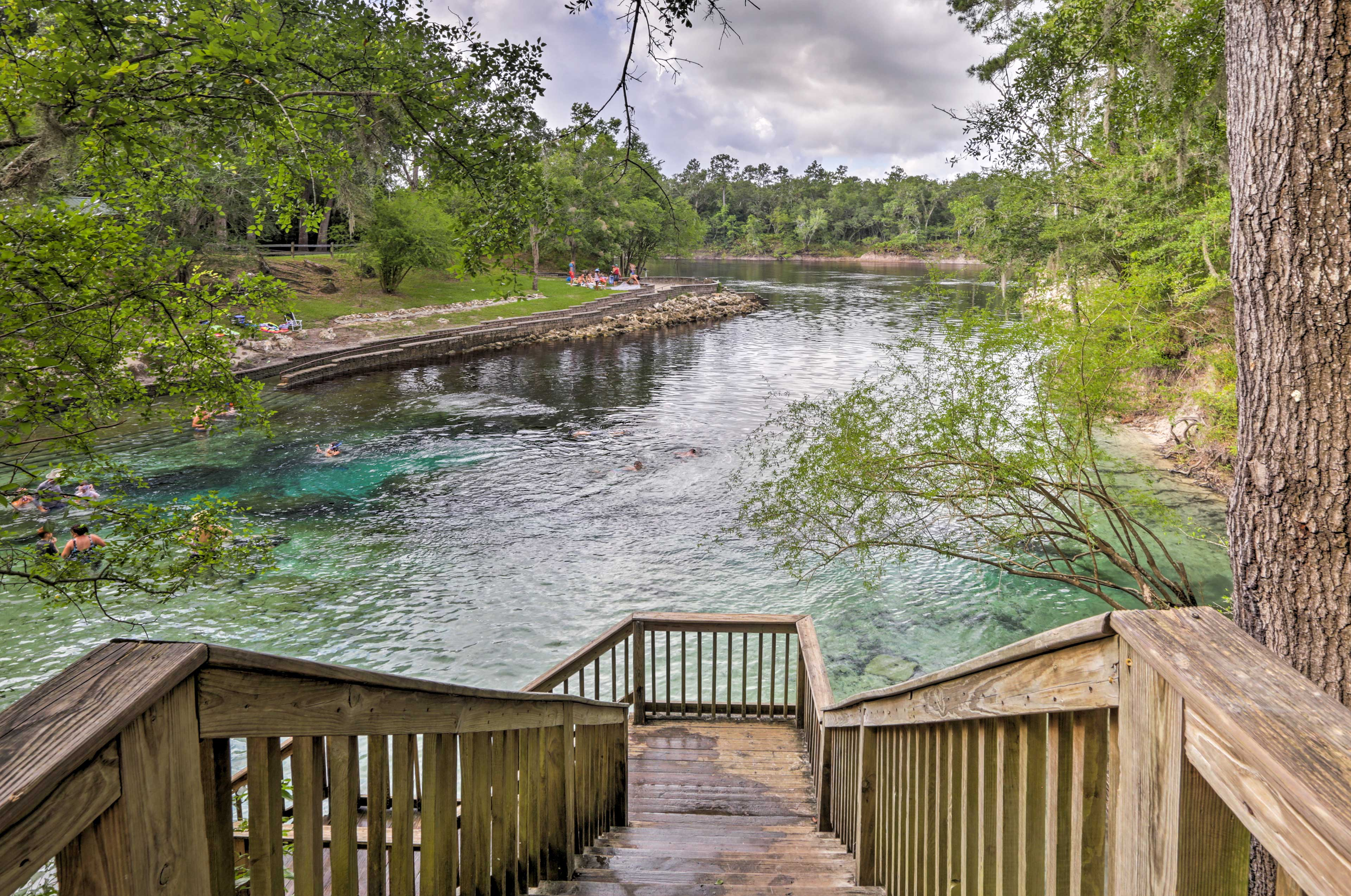 Head over for some cave diving at the natural springs.