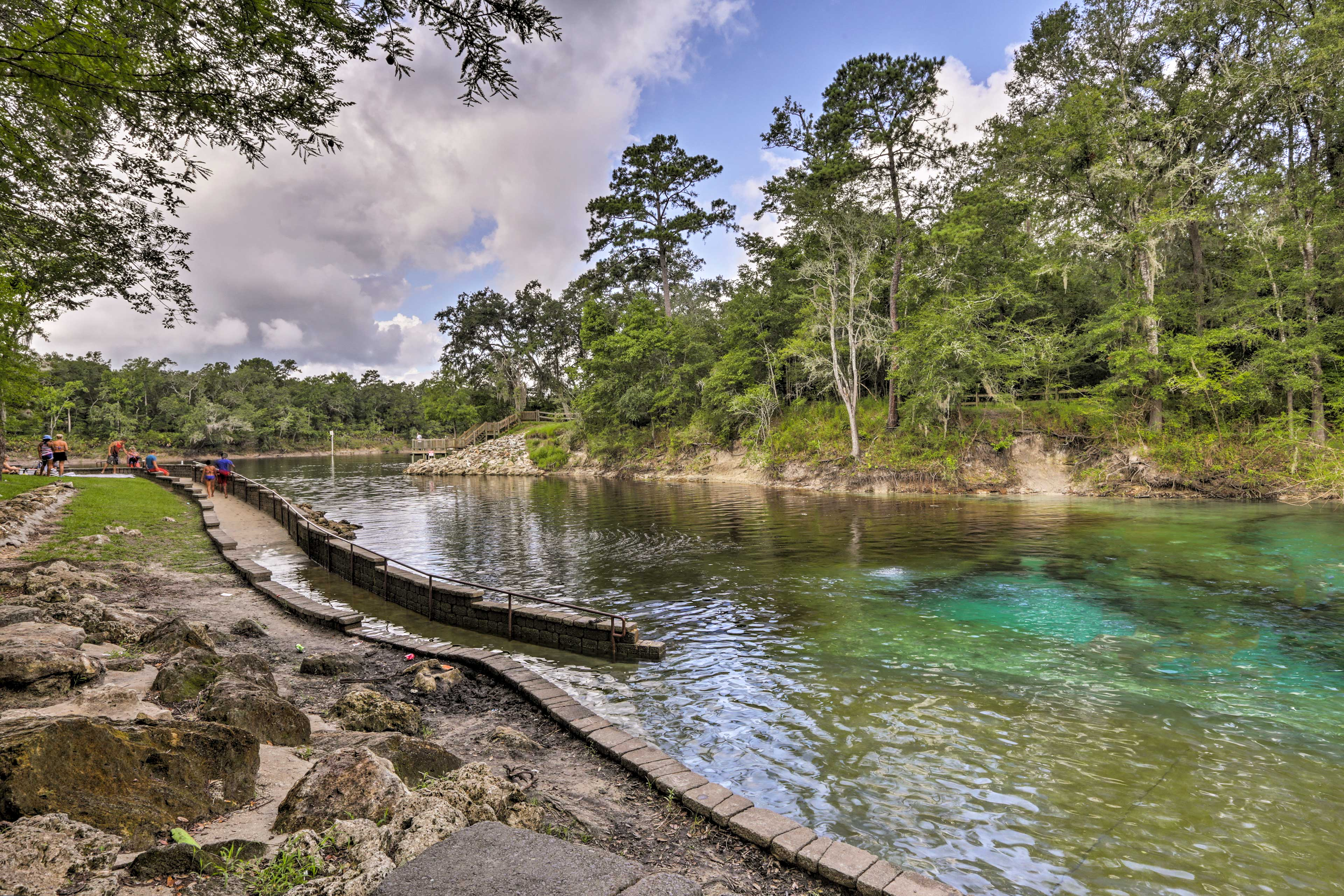 These turquoise waters are great for cave diving!