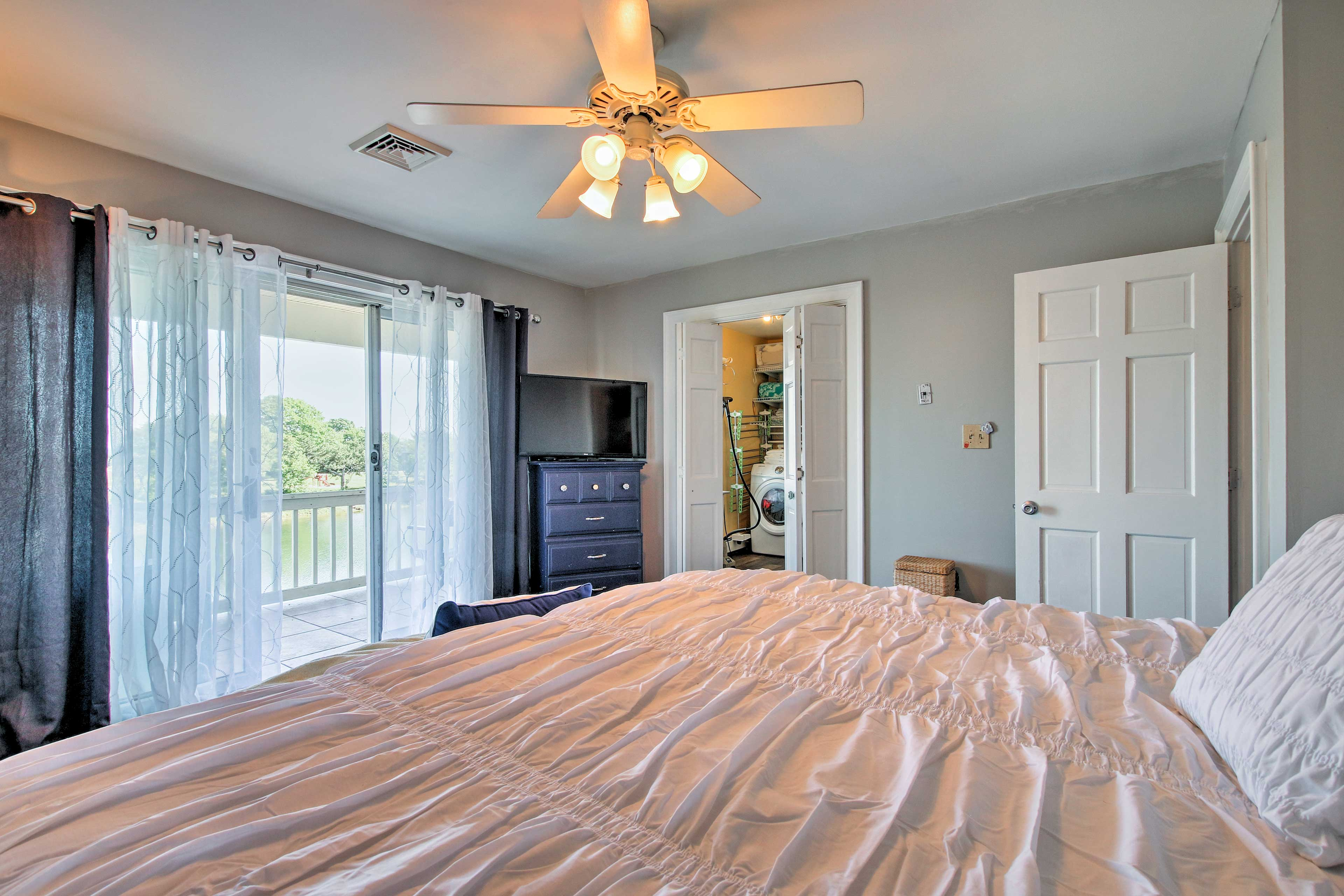 Enjoy private deck access from the master suite.