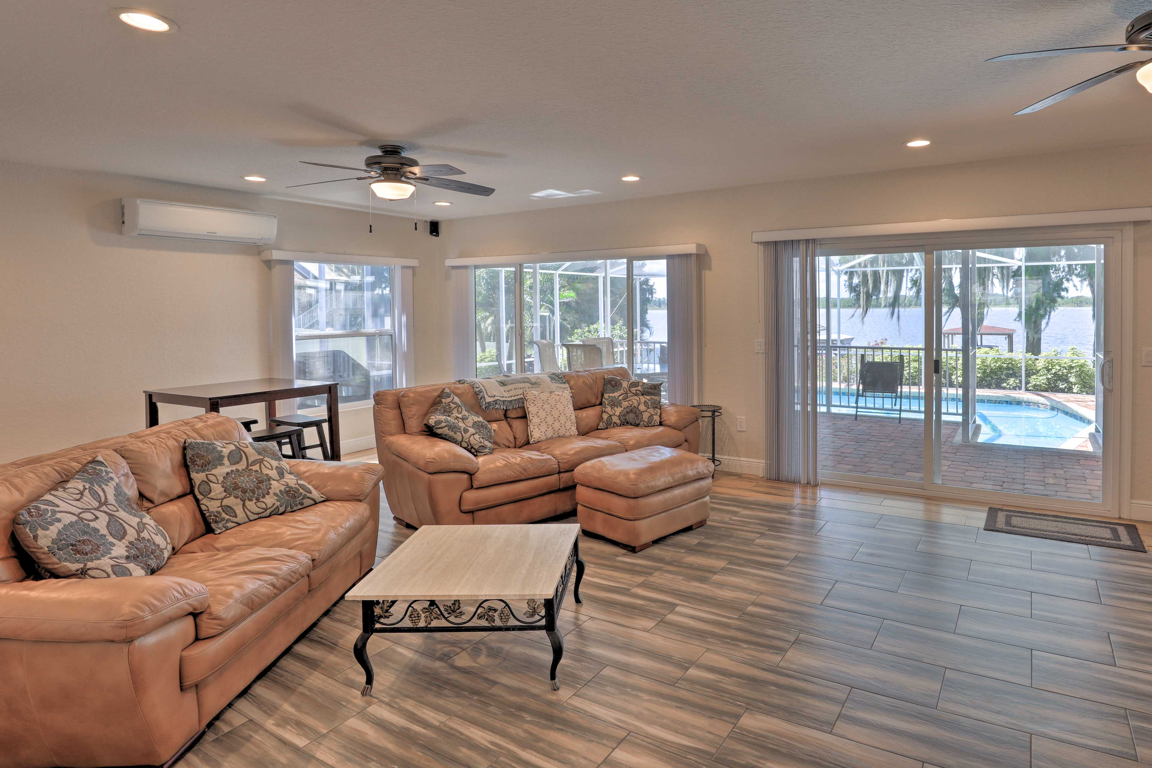 There are multiple living areas amidst the 2,953 square feet!