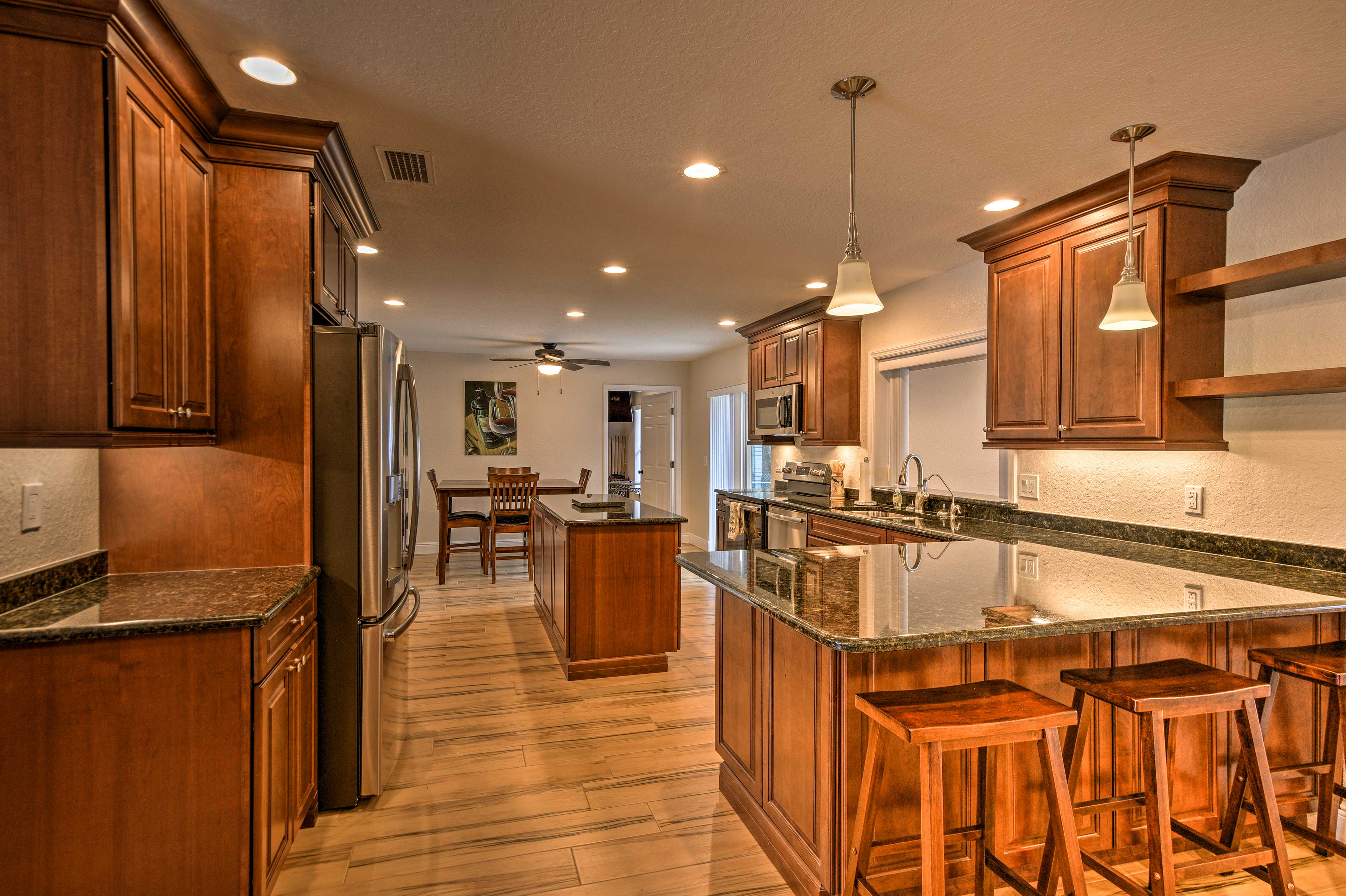Fully equipped, this kitchen is every chef's dream.