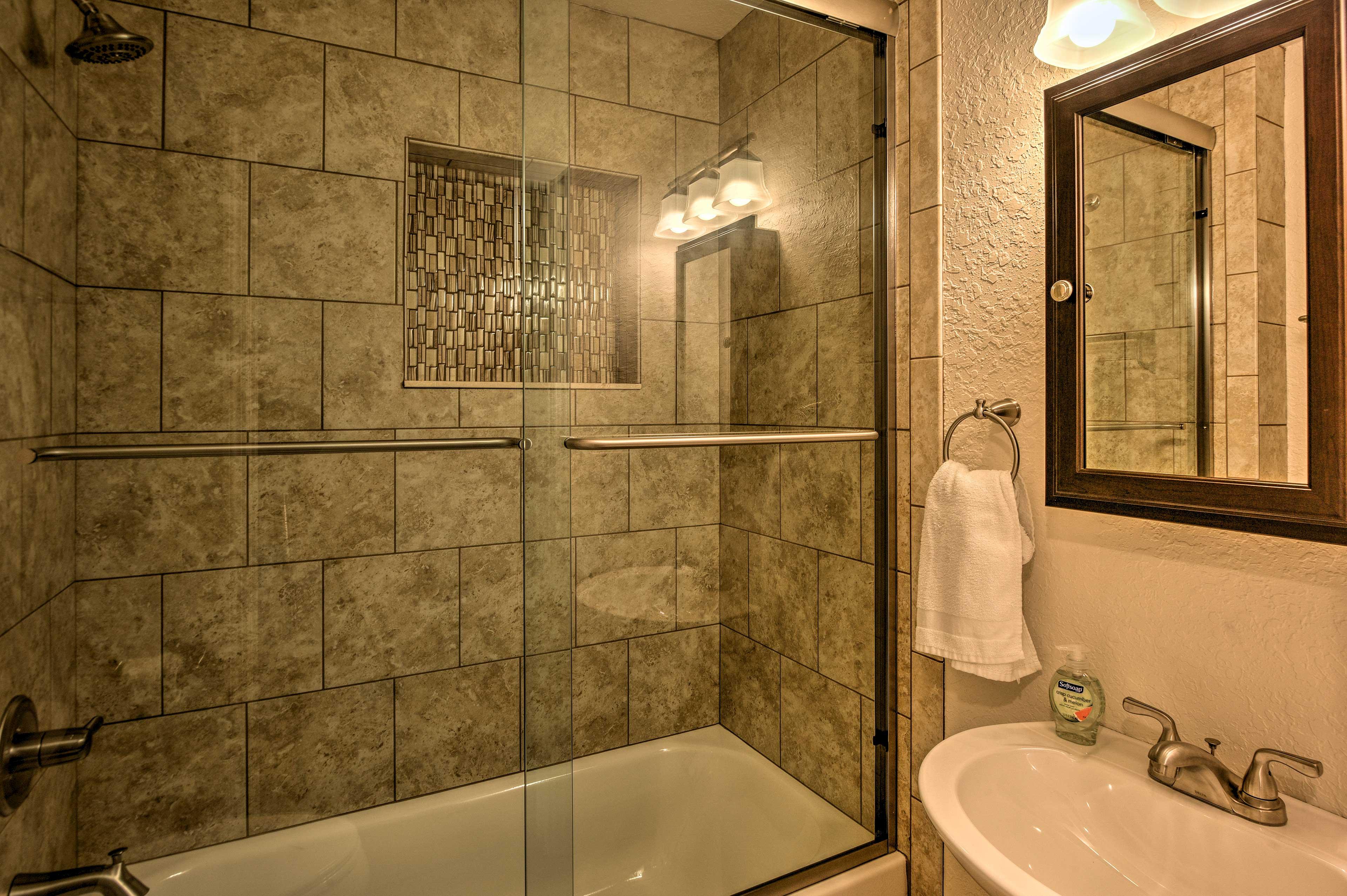 Enjoy a hot shower or a long soak in the tub.