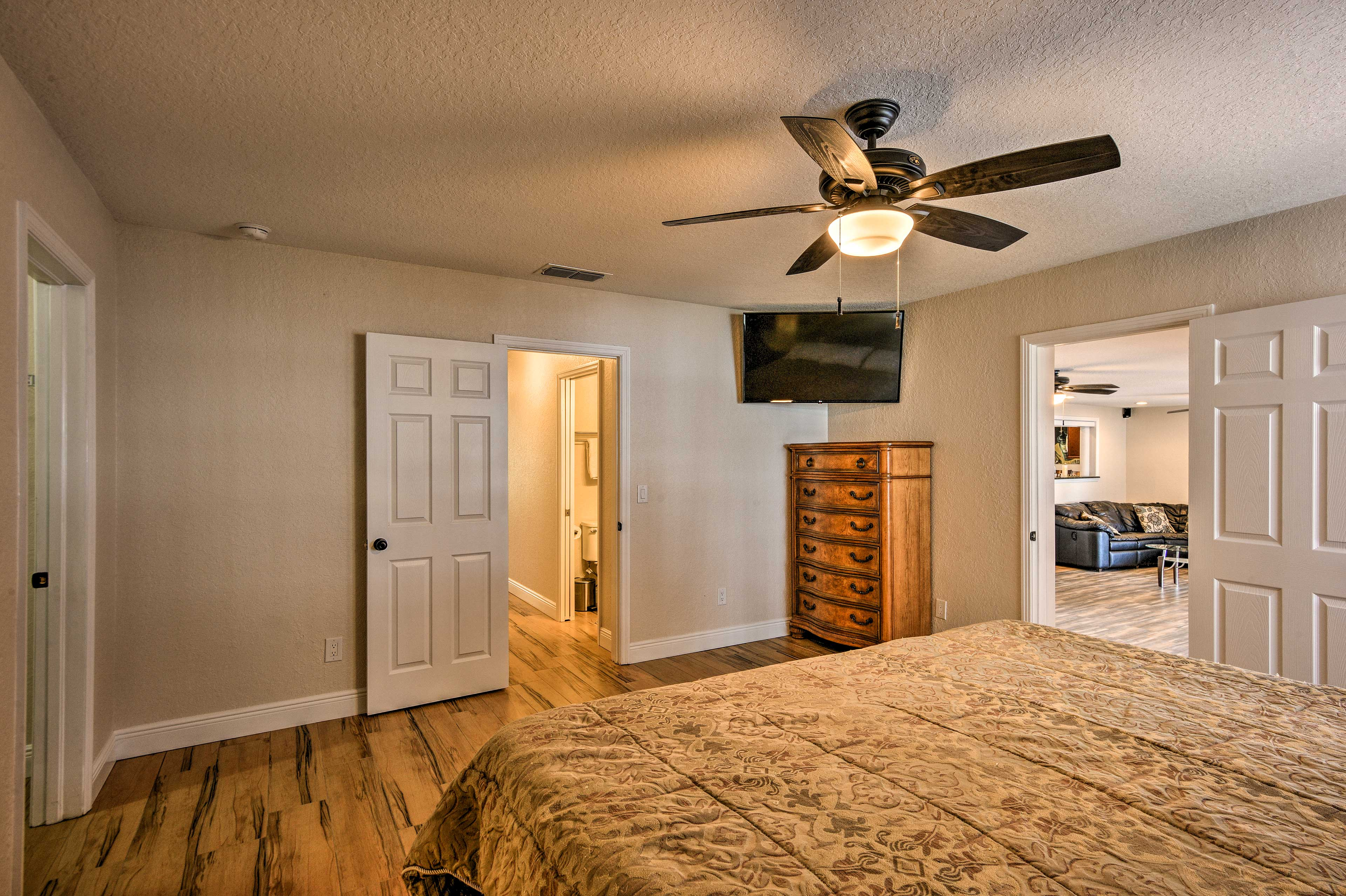 Each bedroom comes equipped with a flat-screen Smart TV!
