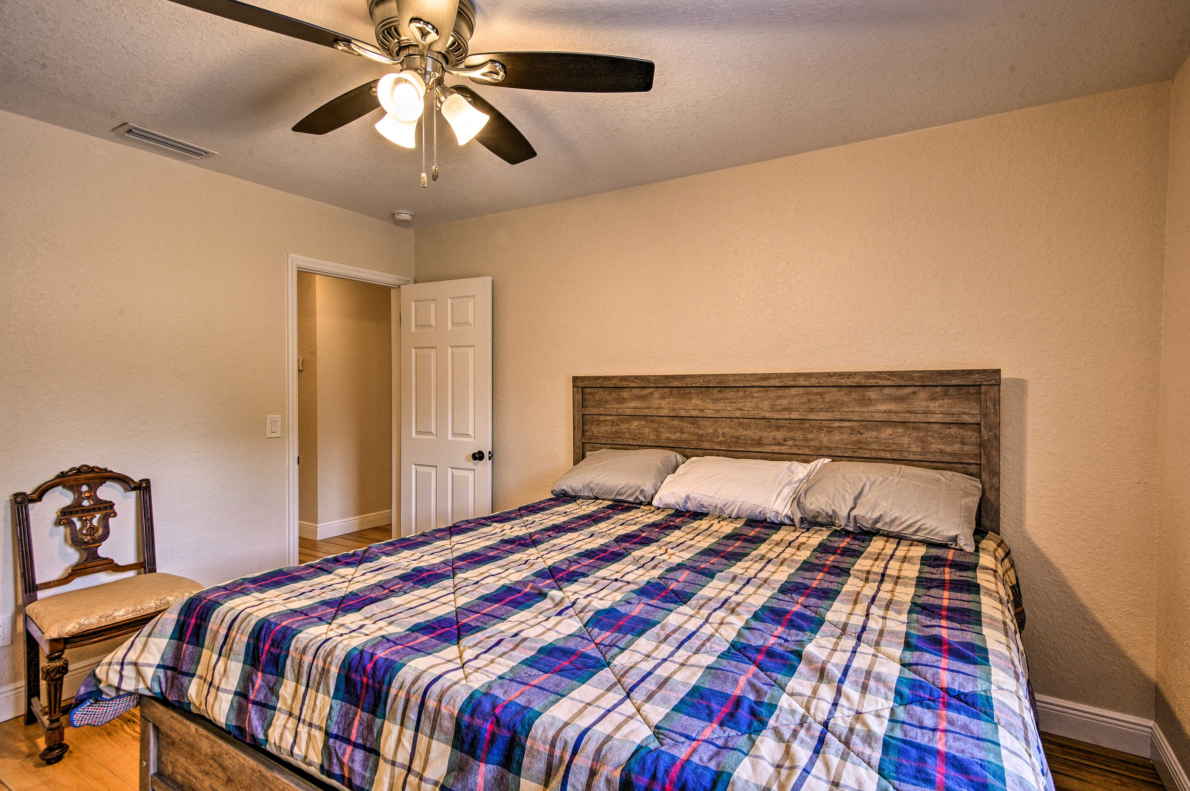 Sleep is sure to come easy no matter which lovely bedroom you choose!