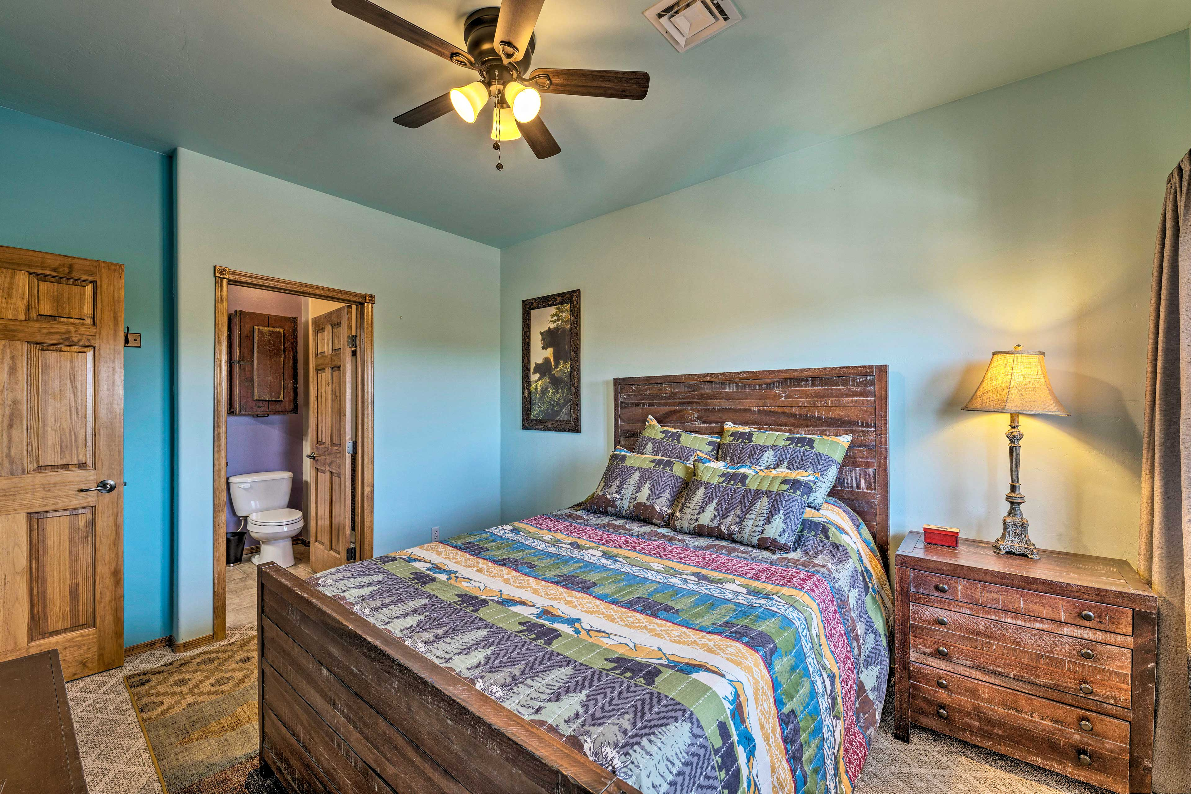 You'll feel revitalized after a refreshing rest on one of 3 queen beds.