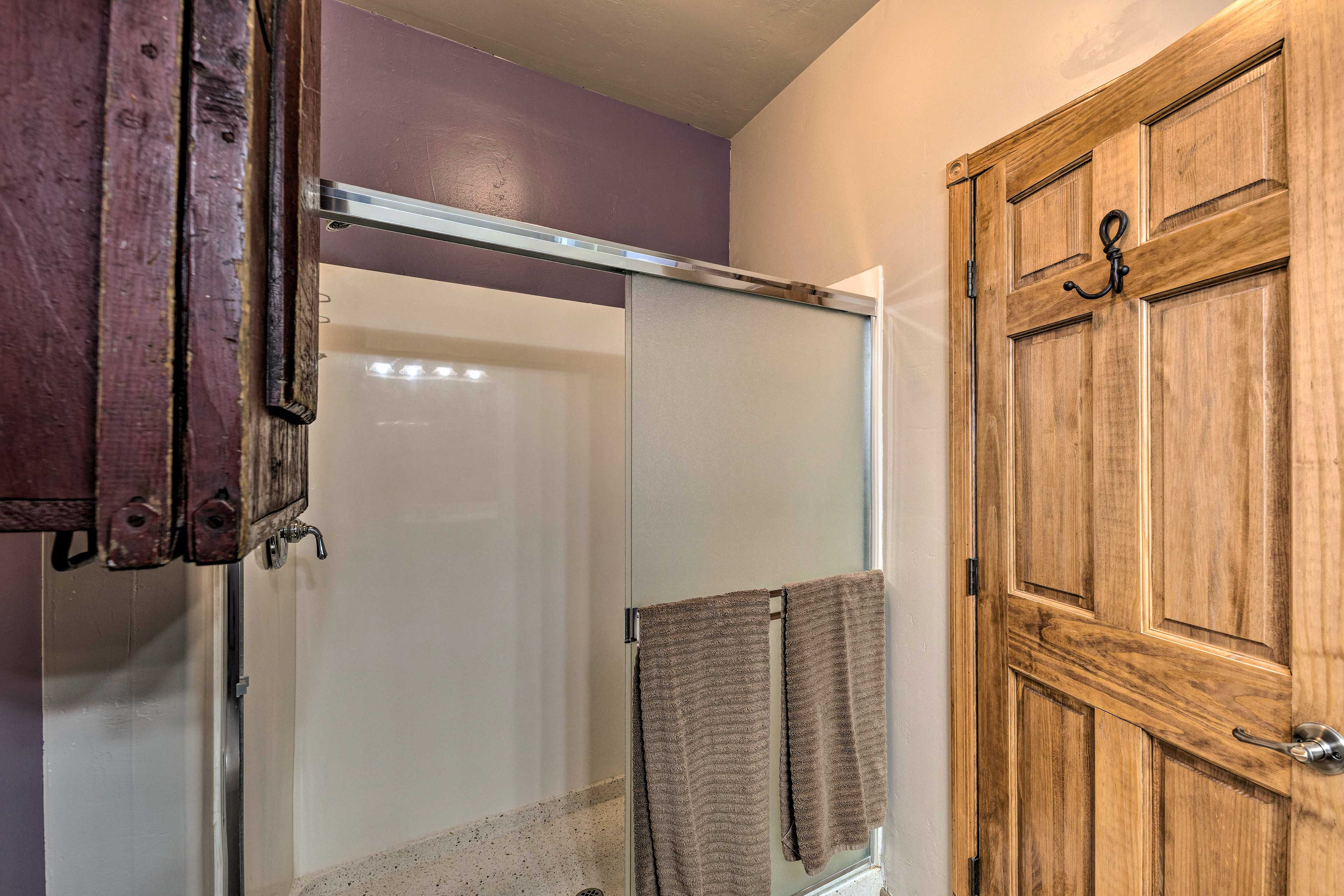 Rinse the day away with complimentary toiletries in the walk-in shower.