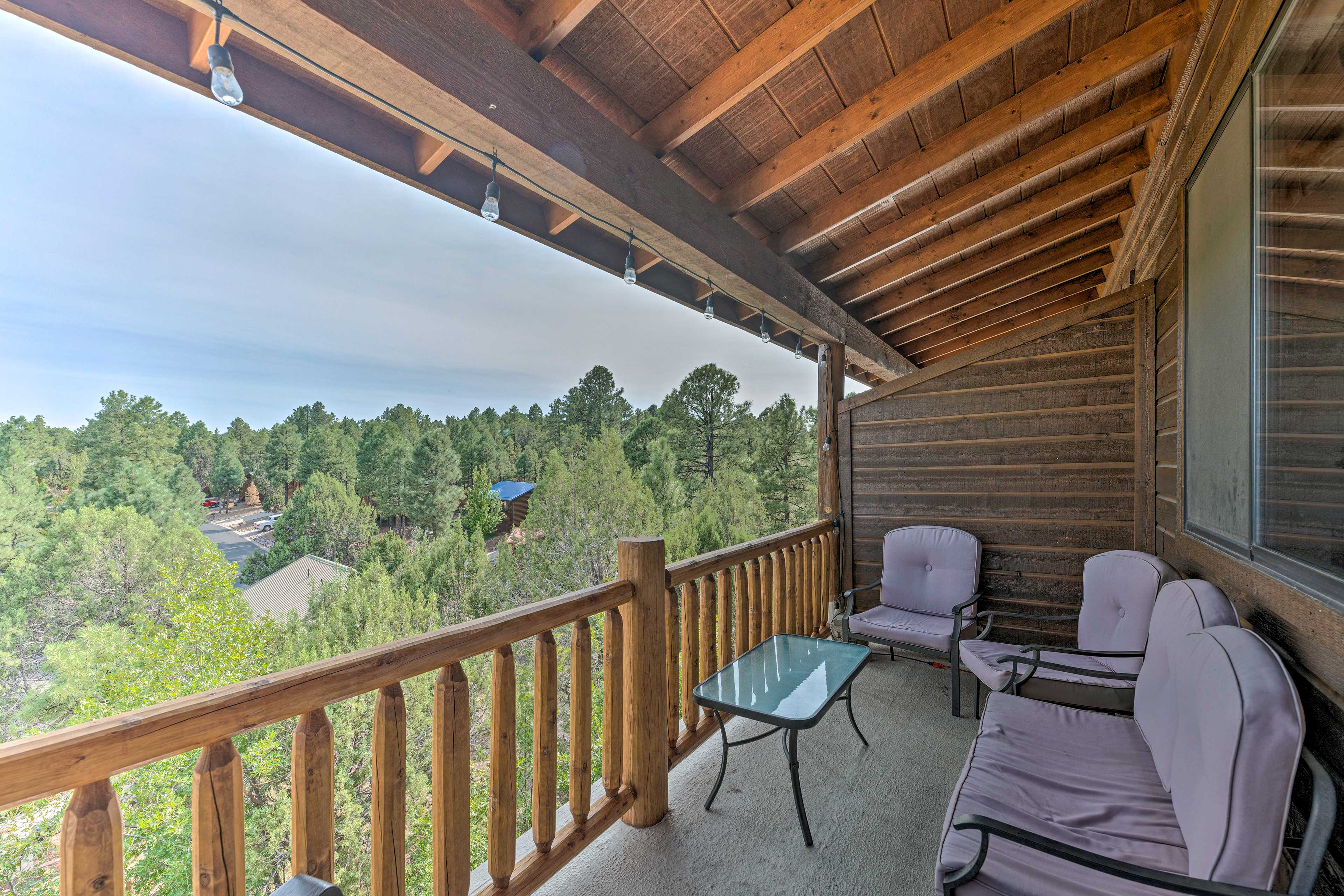The furnished patio is a great spot to read, chat, or simply enjoy fresh air.