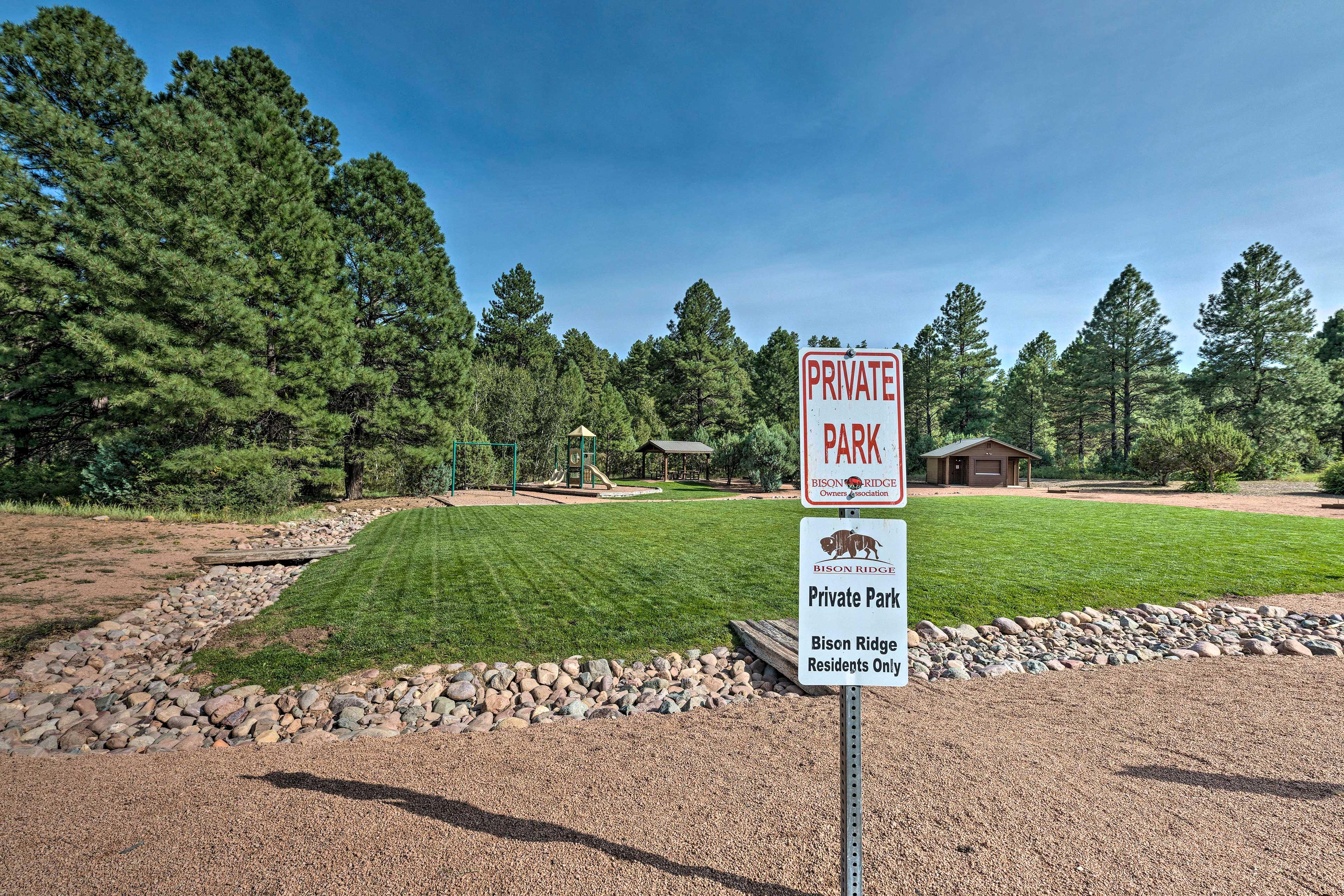 Enjoy the family-friendly park at Bison Ridge!