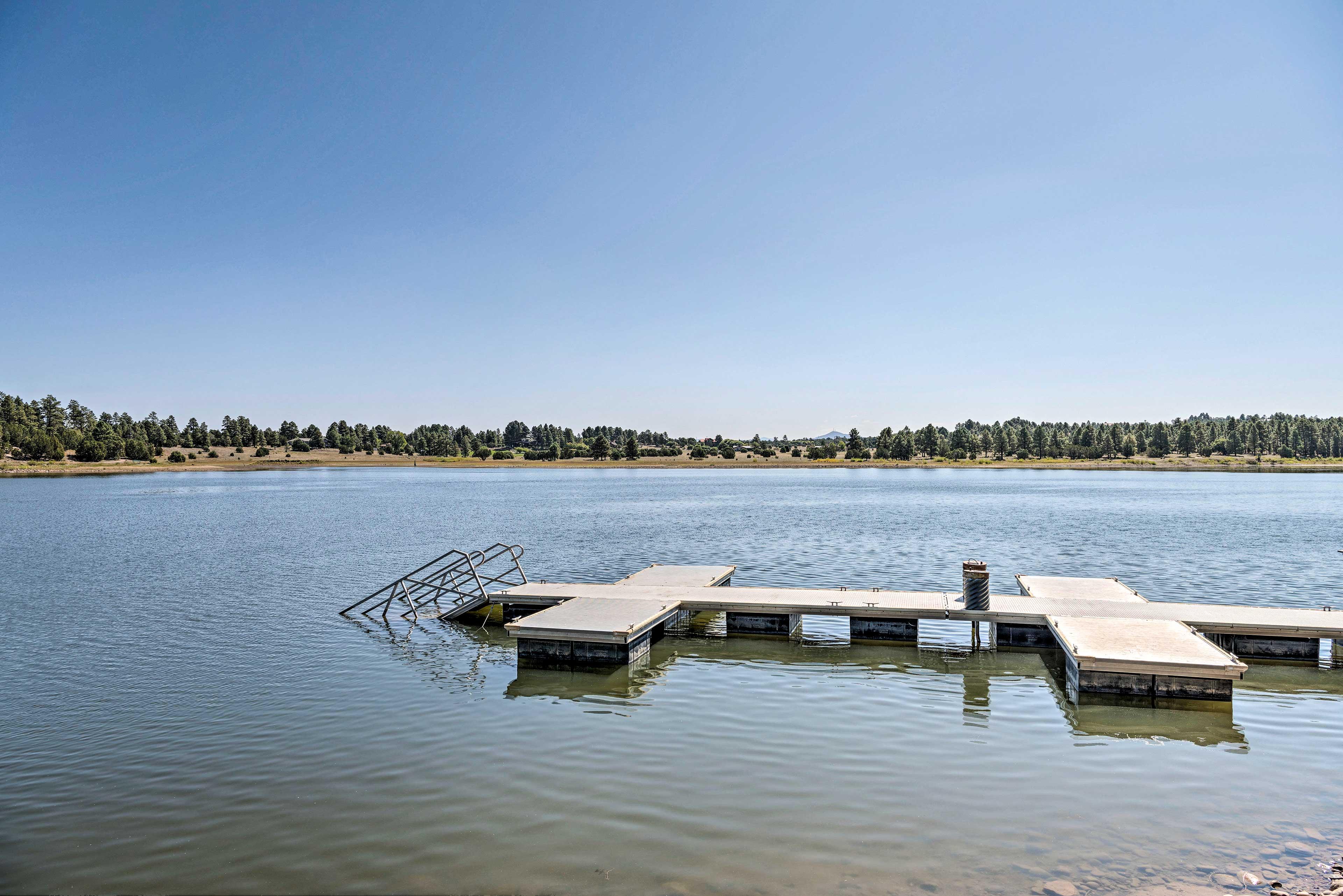 Enjoy year-round fishing and boating.