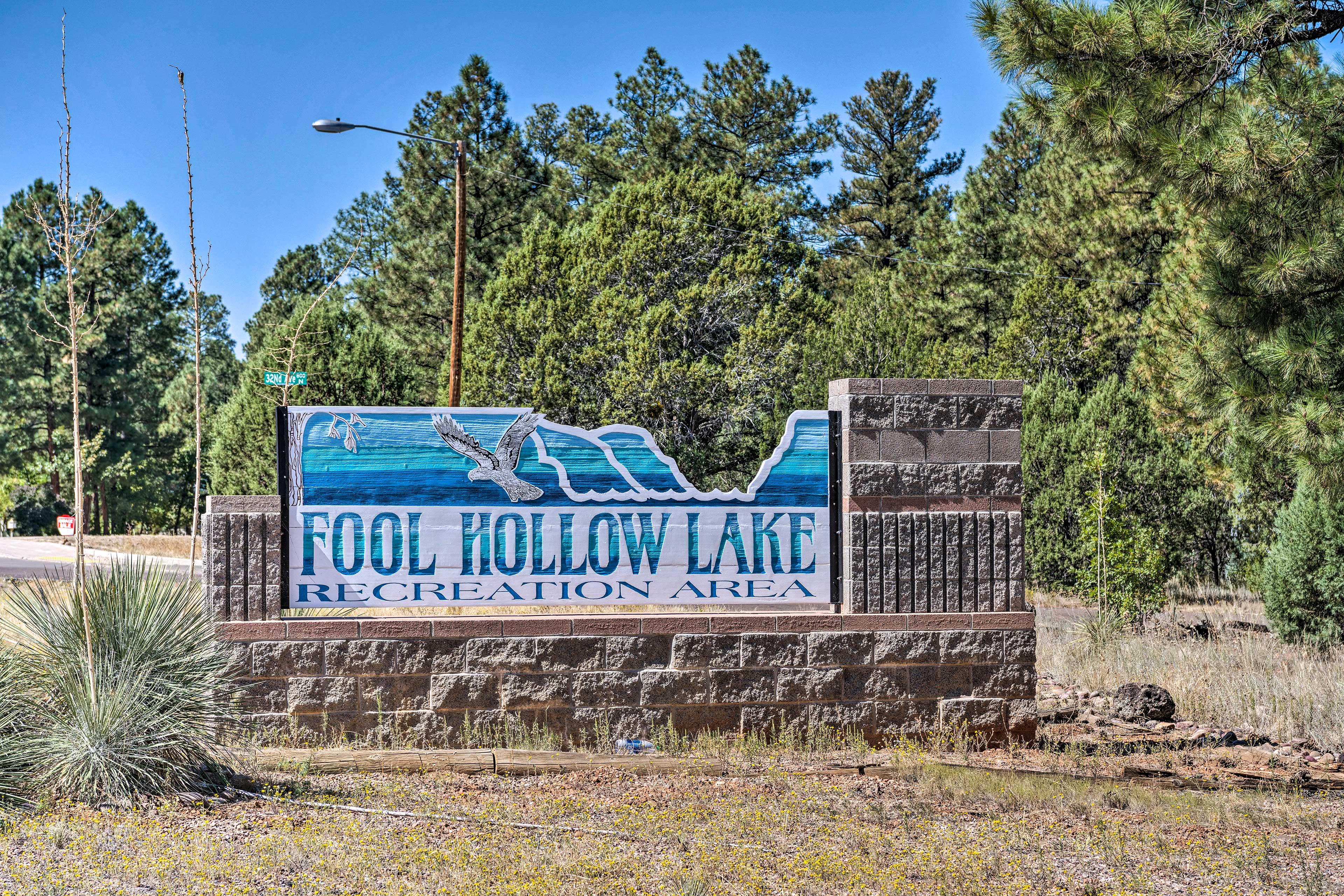 Visit Fool Hollow Lake less than 3 miles away!
