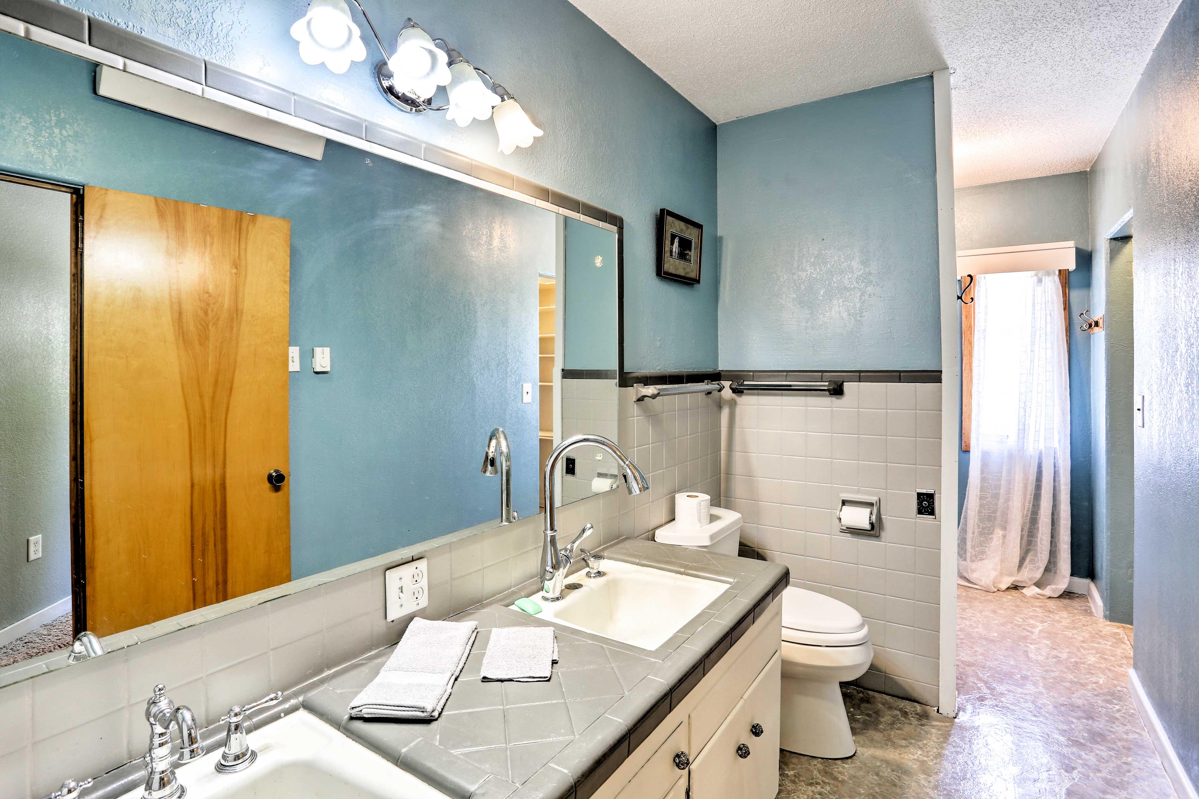 A dual-sink vanity makes morning preparations easy!