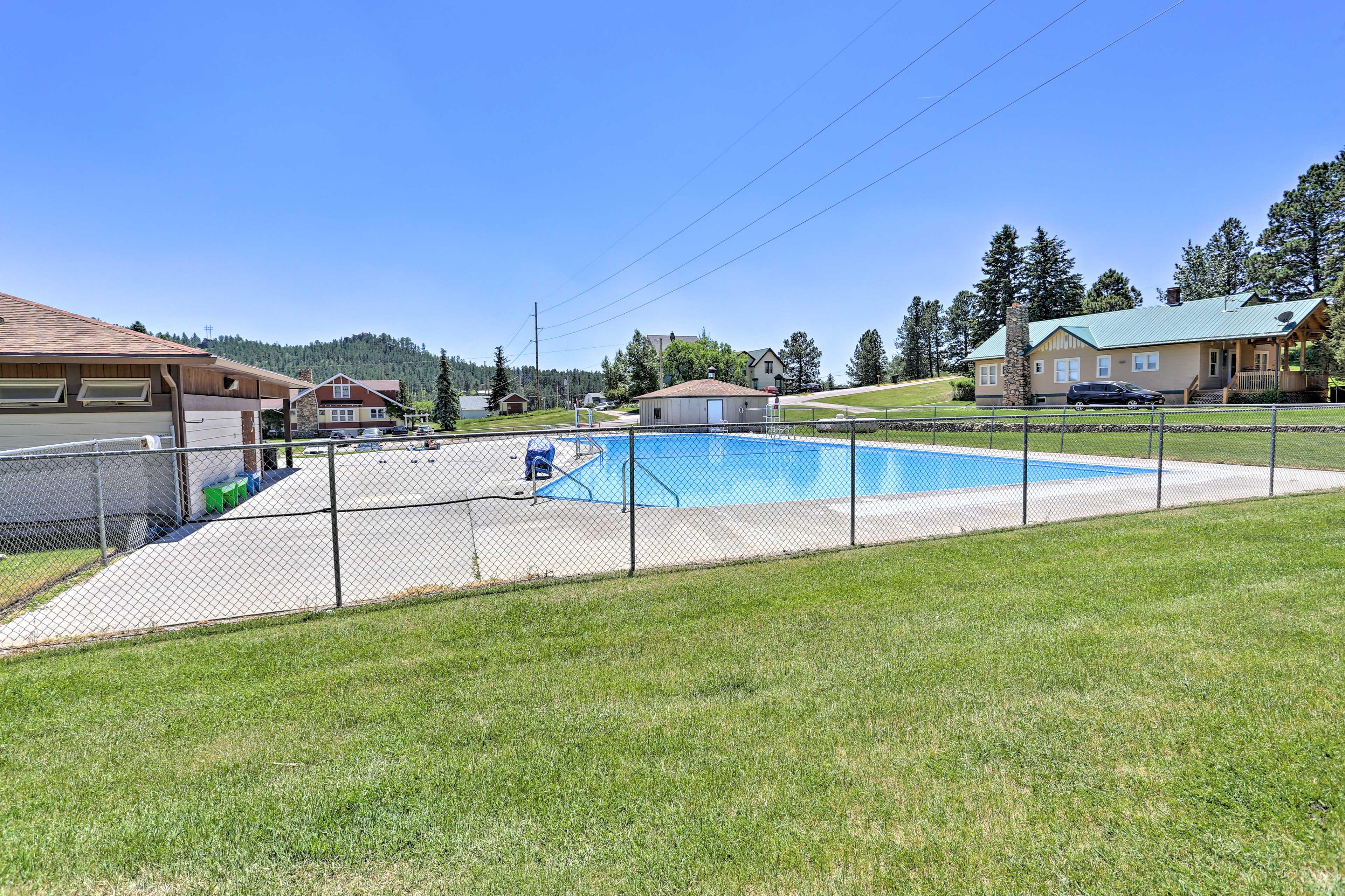 A community pool lies just steps away!