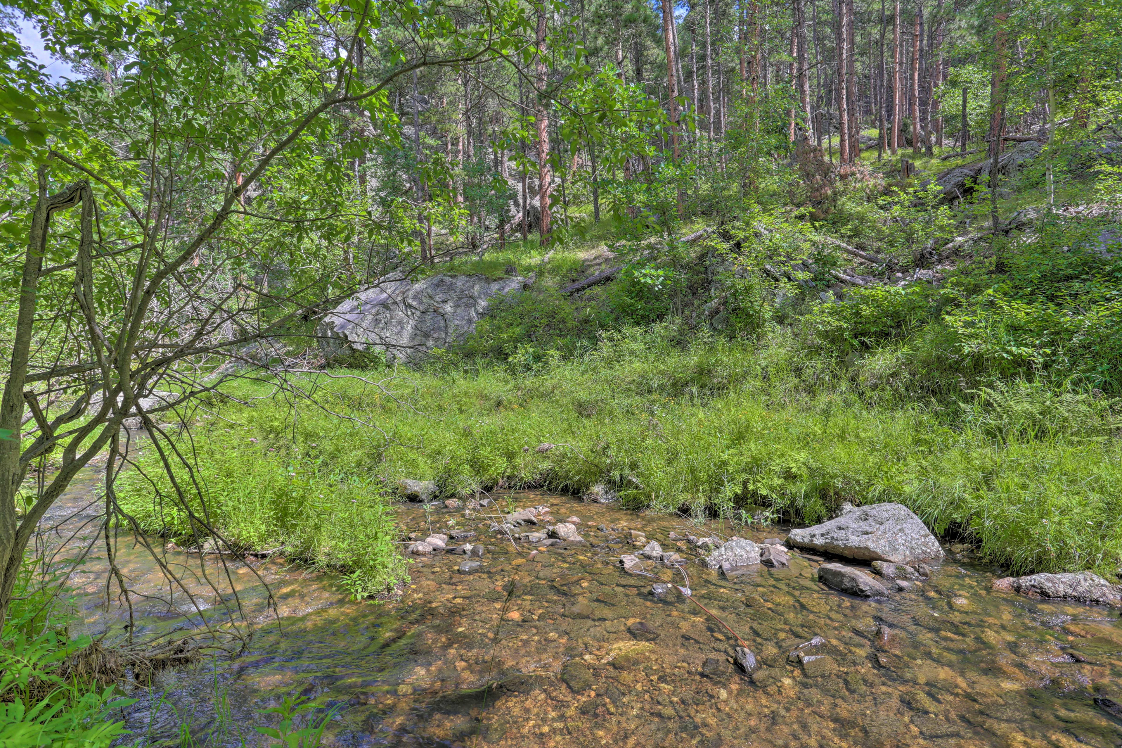 Listen to the relaxing sounds of the creek.