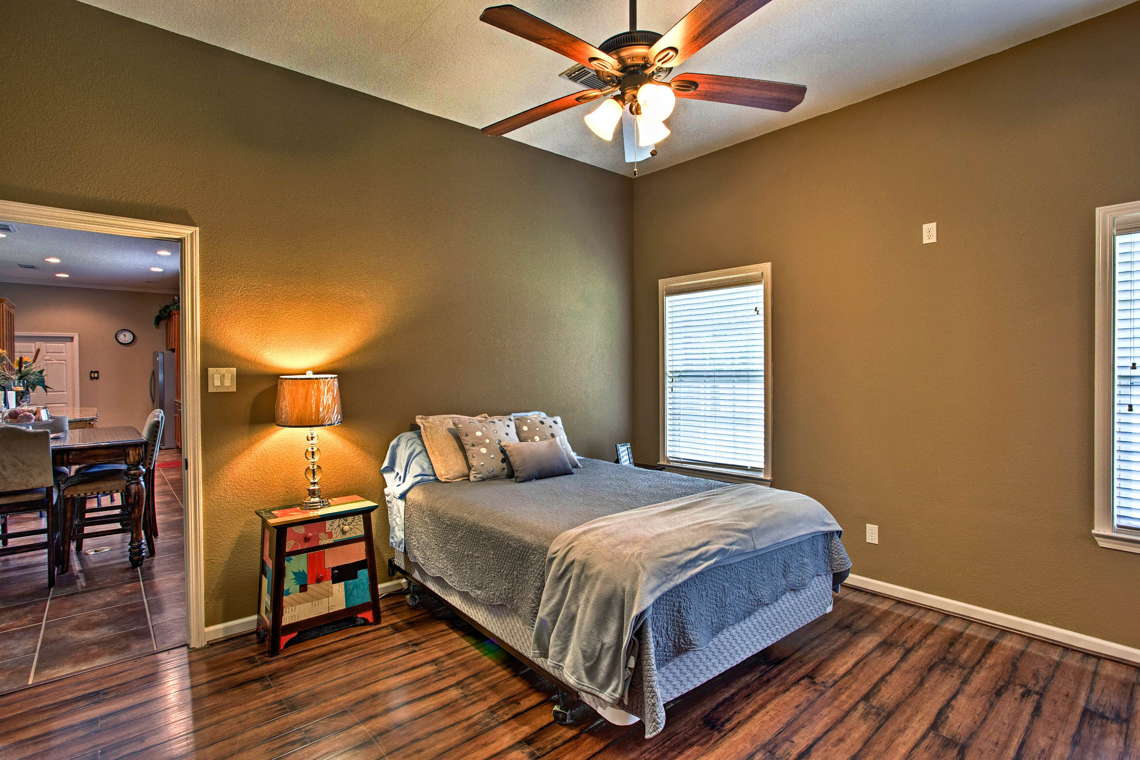 The bedrooms comfortably sleep 10 guests - perfect for family trips.