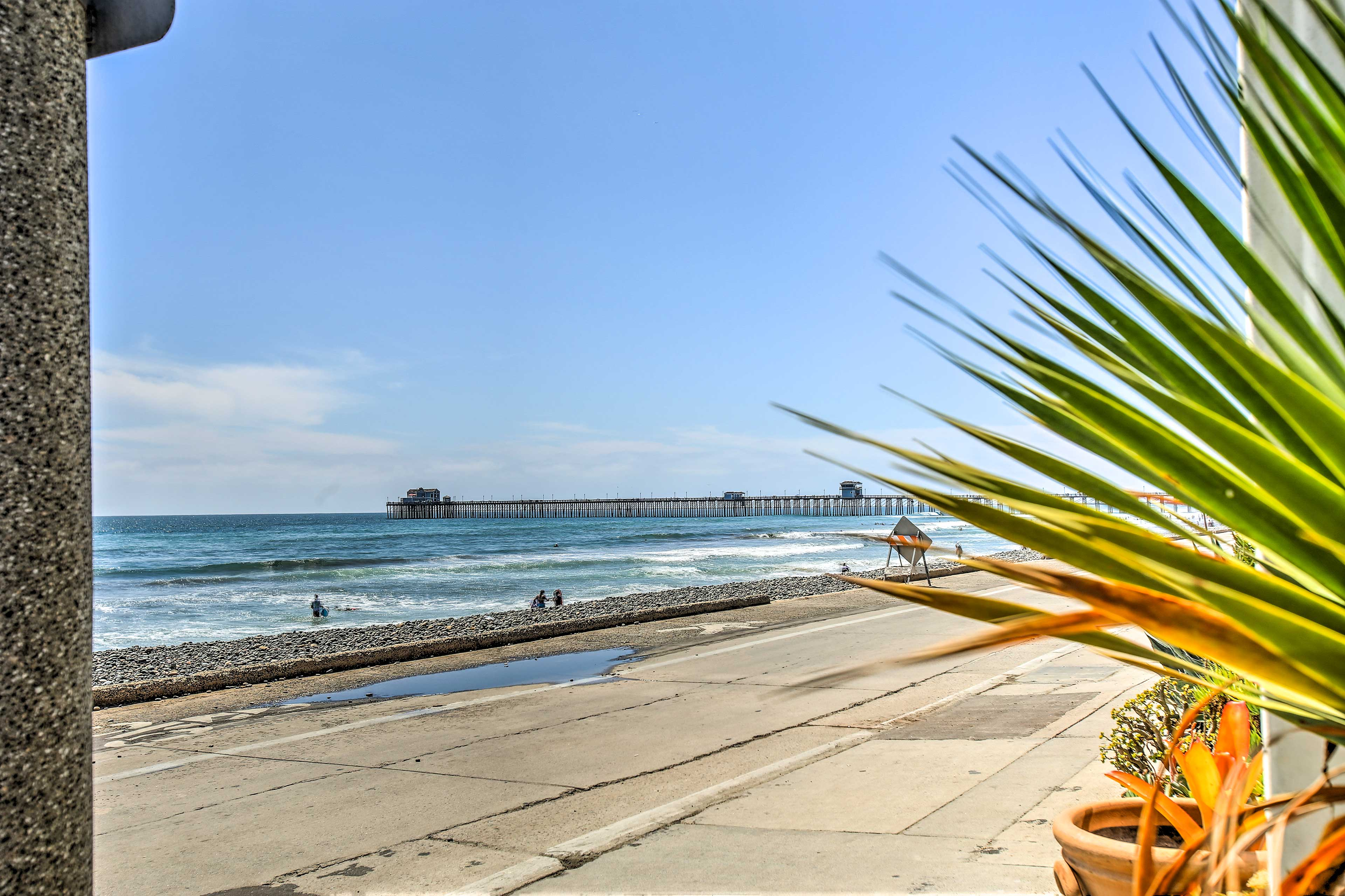 From inside you can see the Oceanside Pier!