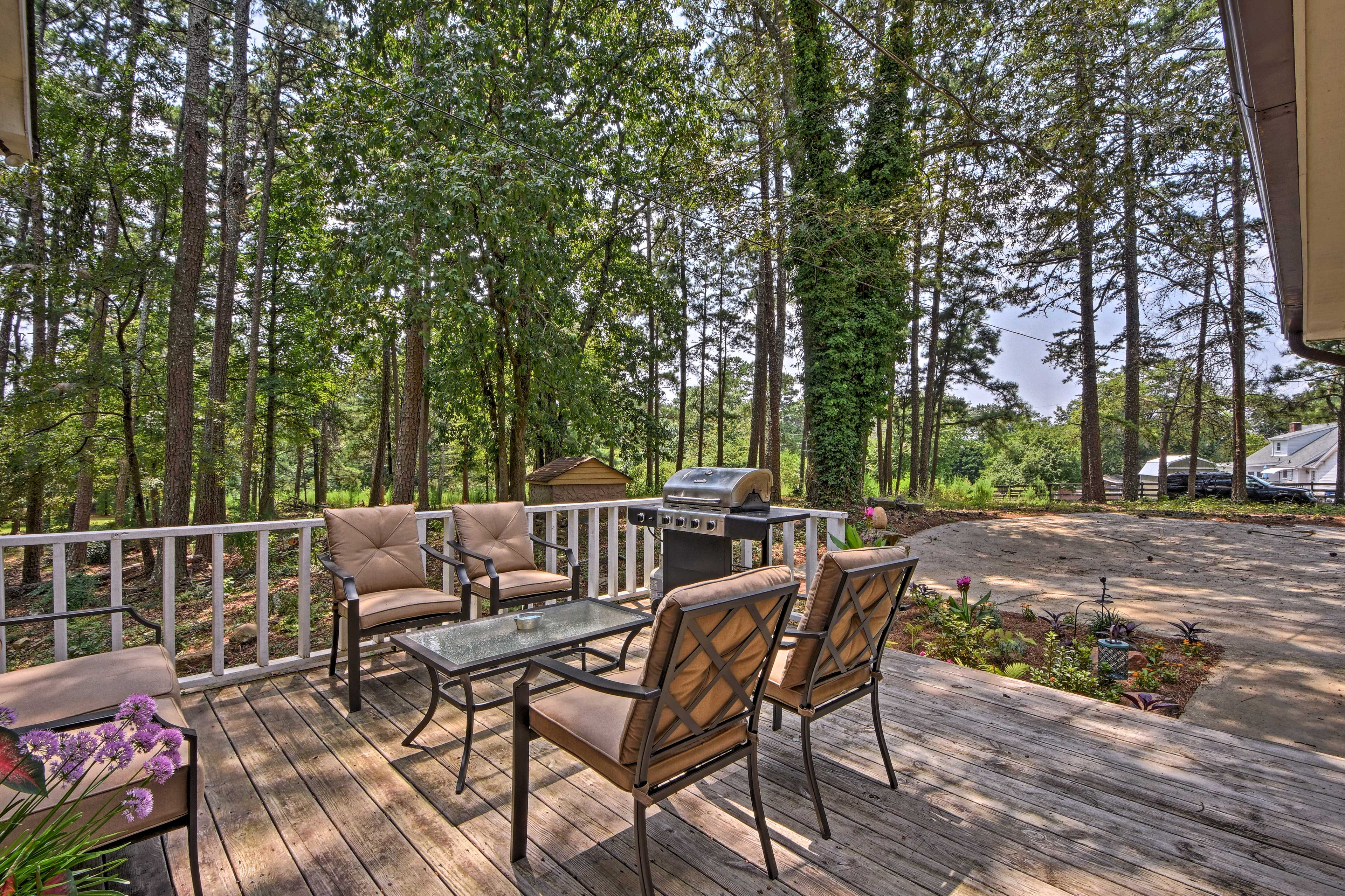 Escape to Lake Lanier and stay at this charming Cumming vacation rental house.