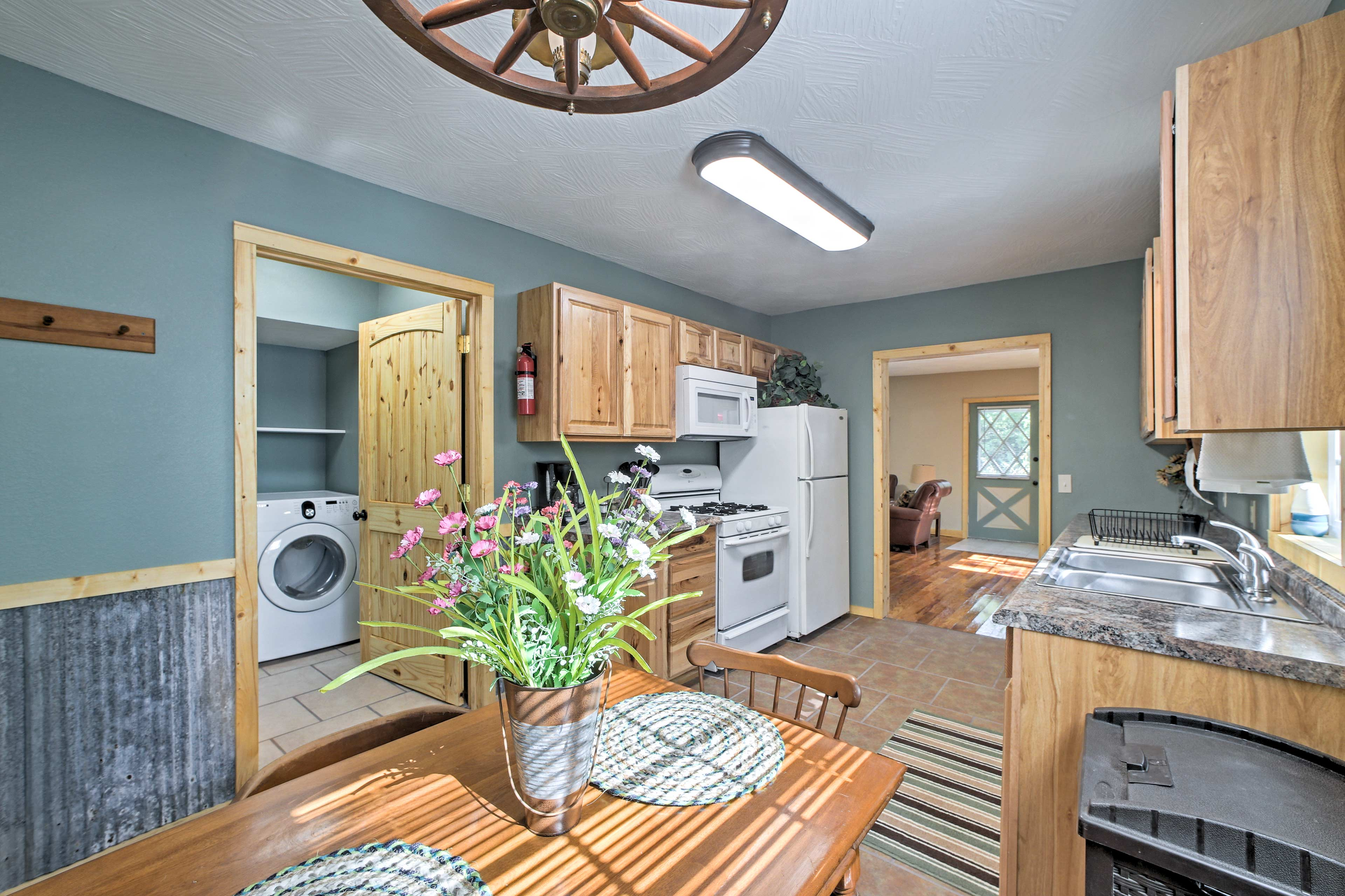 The light-filled room is inviting and a great setting for family bonding!