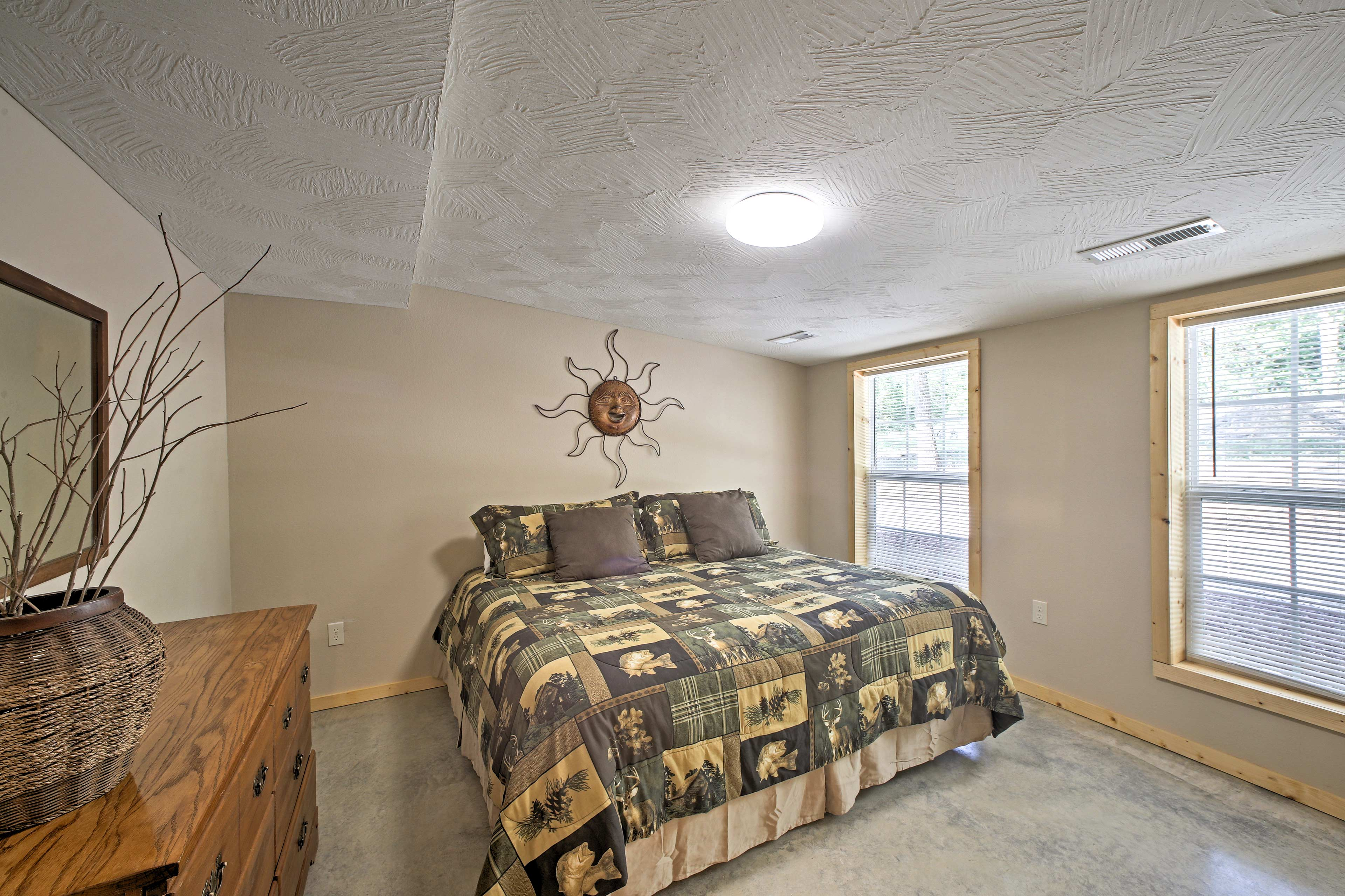 Rest easy in the bedroom with a king bed.