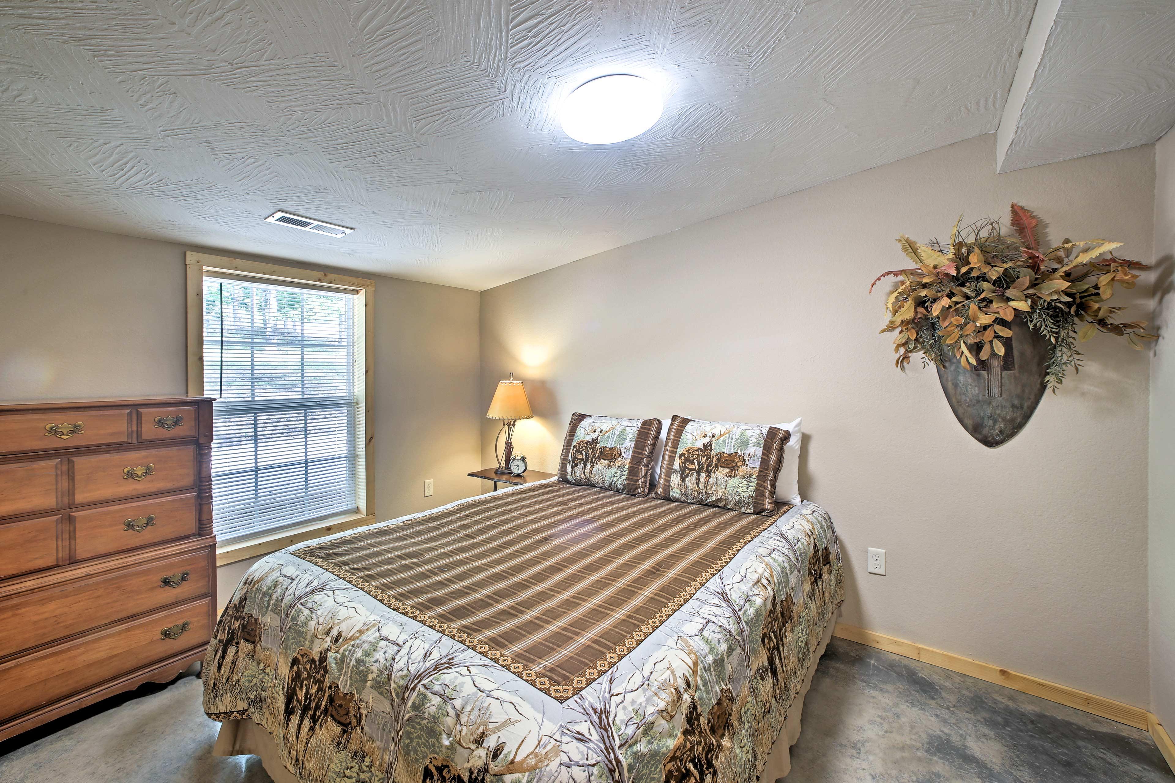 The final bedroom has a cloud-like queen bed!