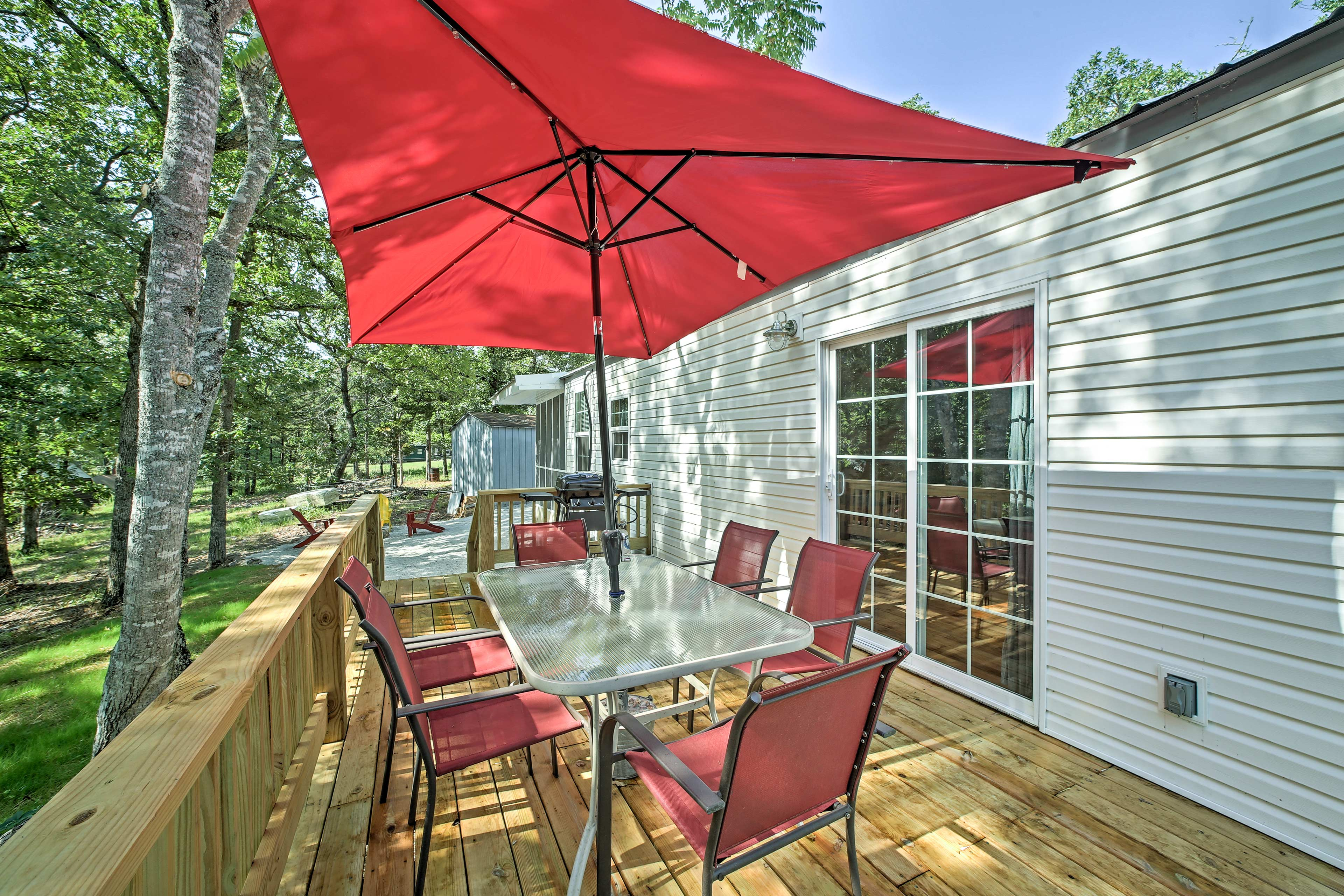 You can also enjoy some outdoor time on the furnished deck!