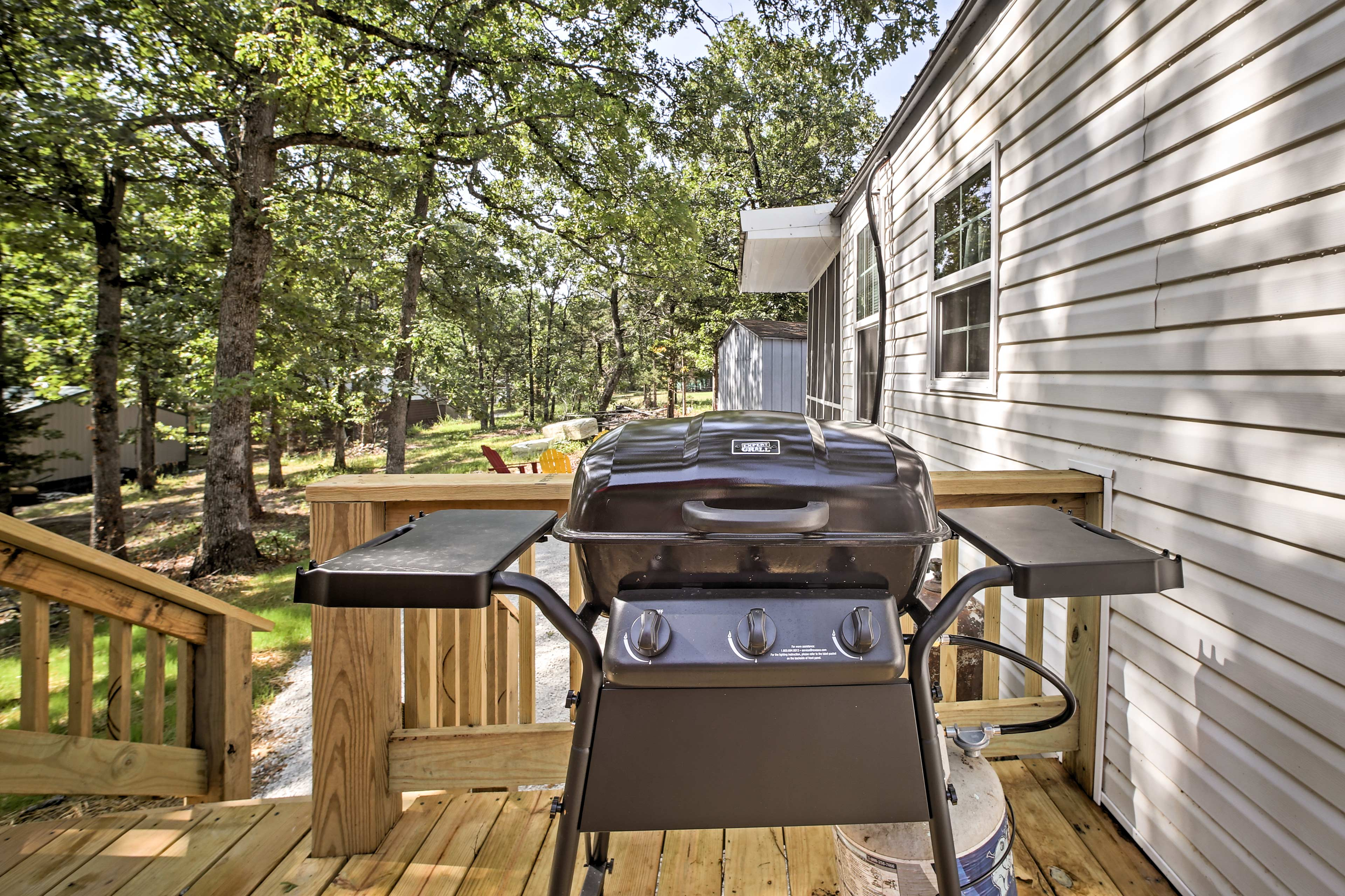 Grill up the fish you caught on Bull Shoals Lake that day!