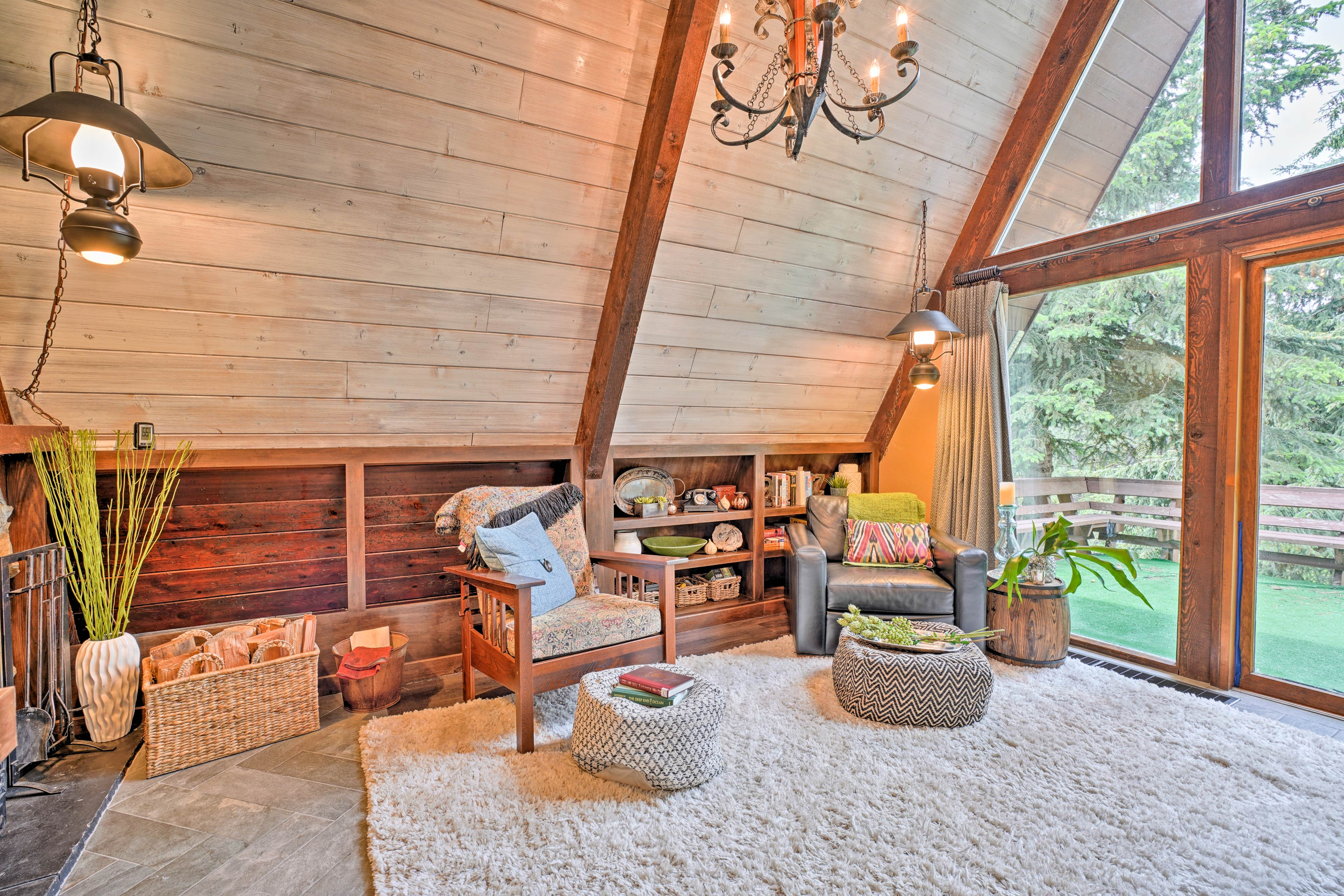 Take a load off in this sunlit open-concept living room.