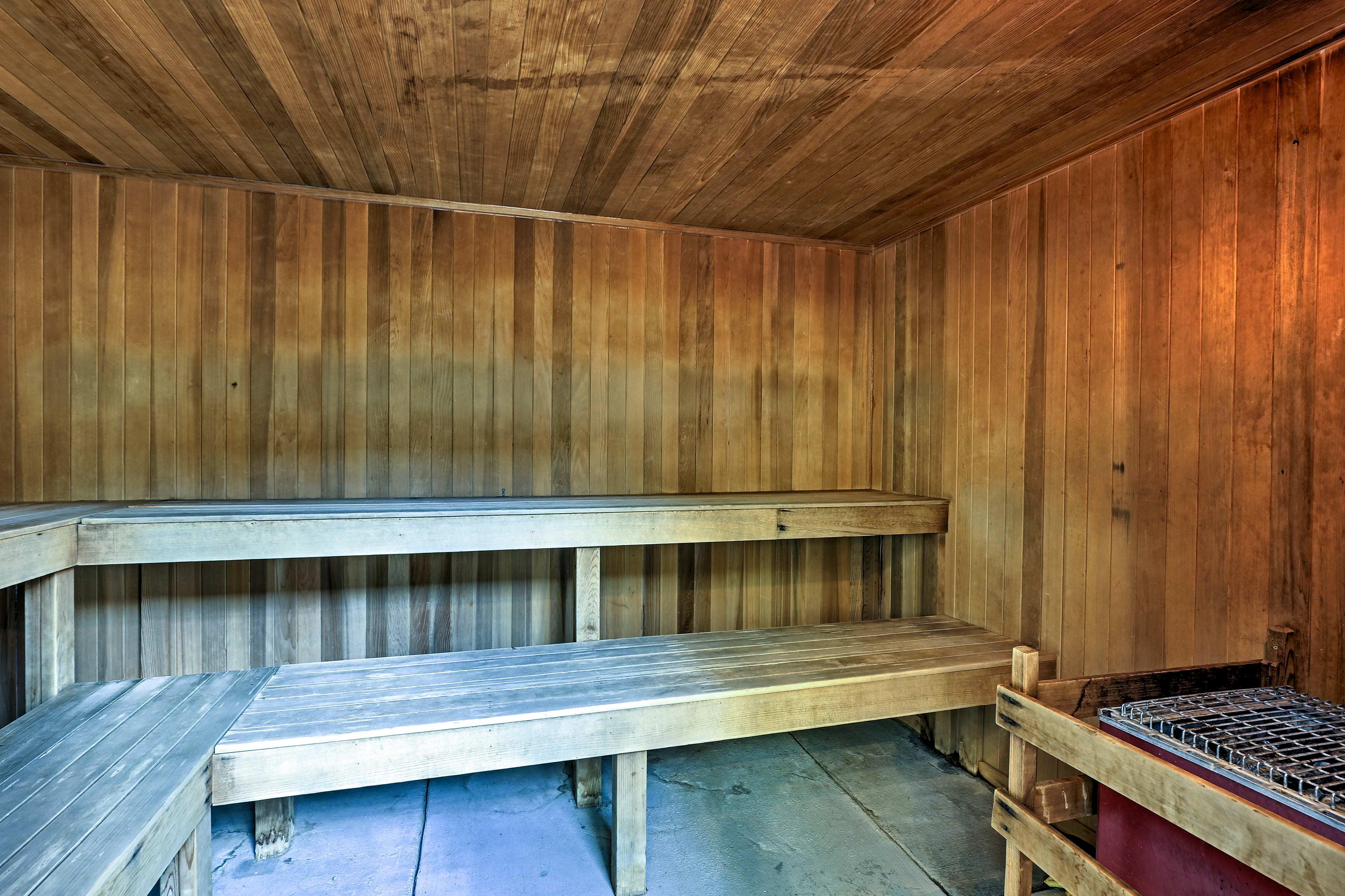 Detox your body in the sauna.