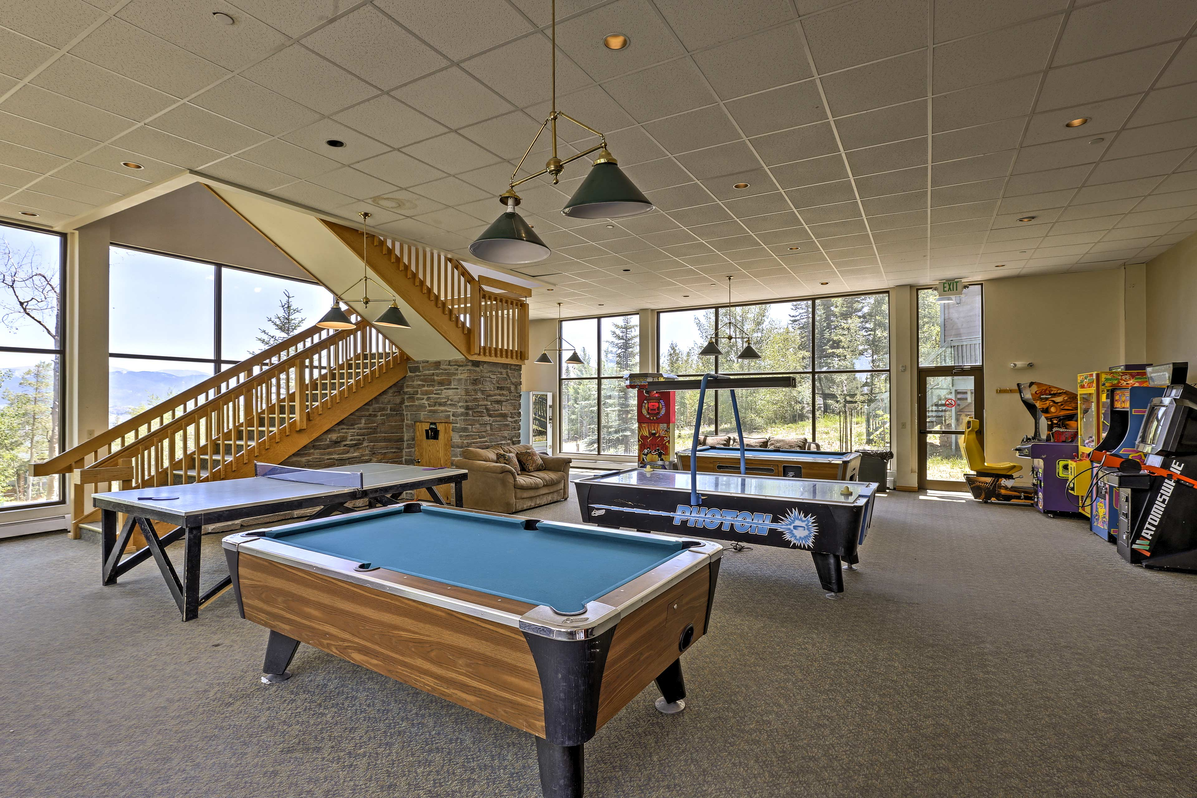 You'll love the downstairs game room/arcade!