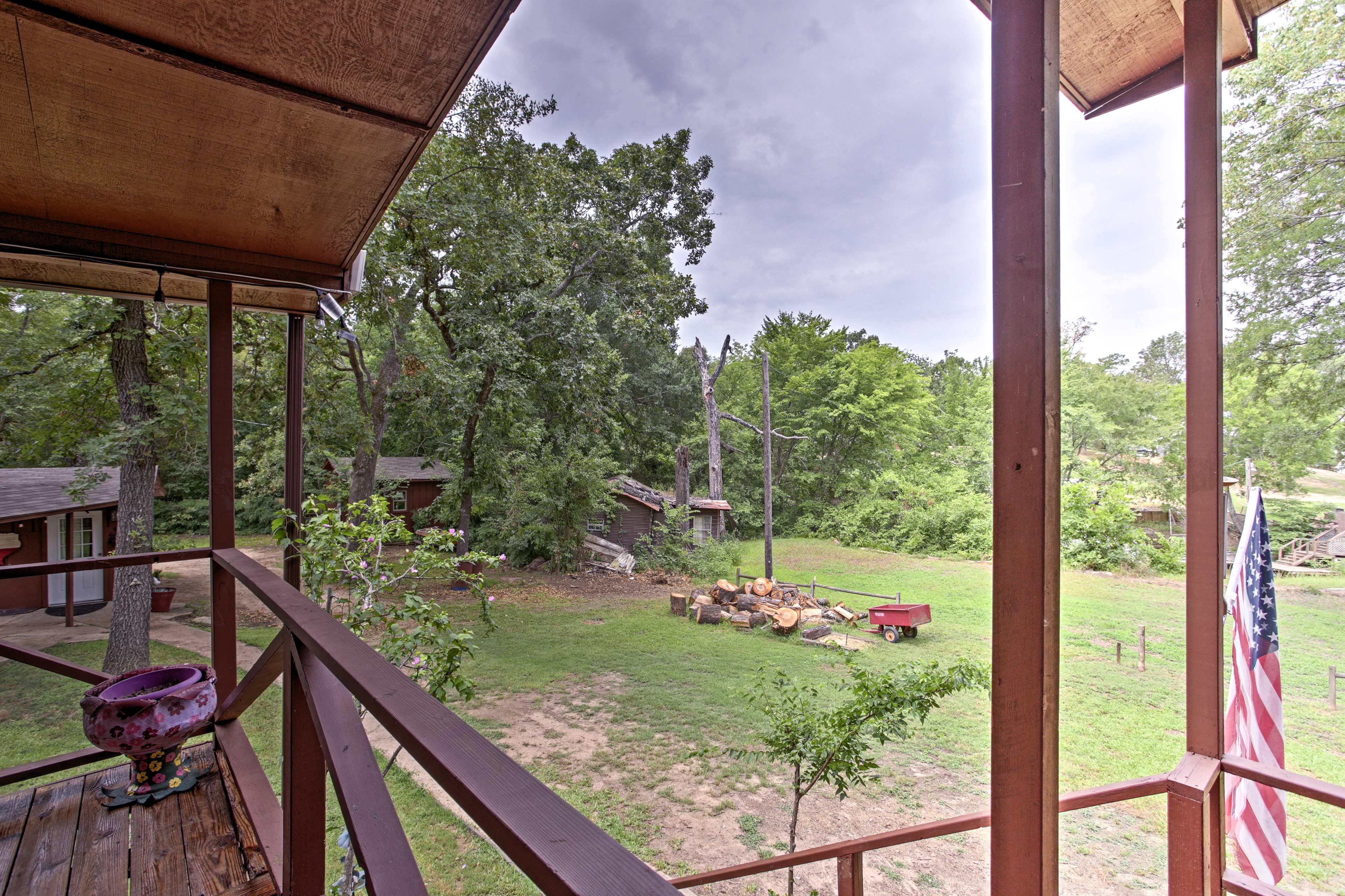 Enjoy the scenic Texas scenery surrounding the property.