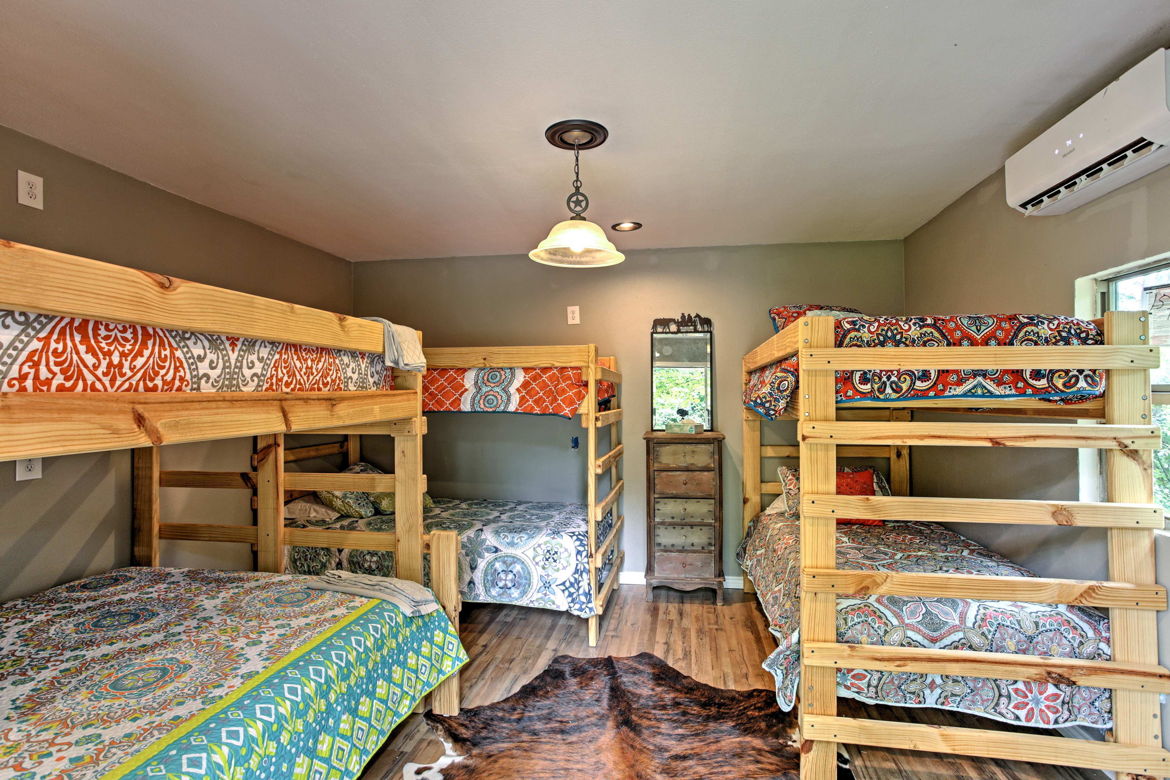 Aptly named, the bunkroom features 3 bunk beds, sleeping 8.
