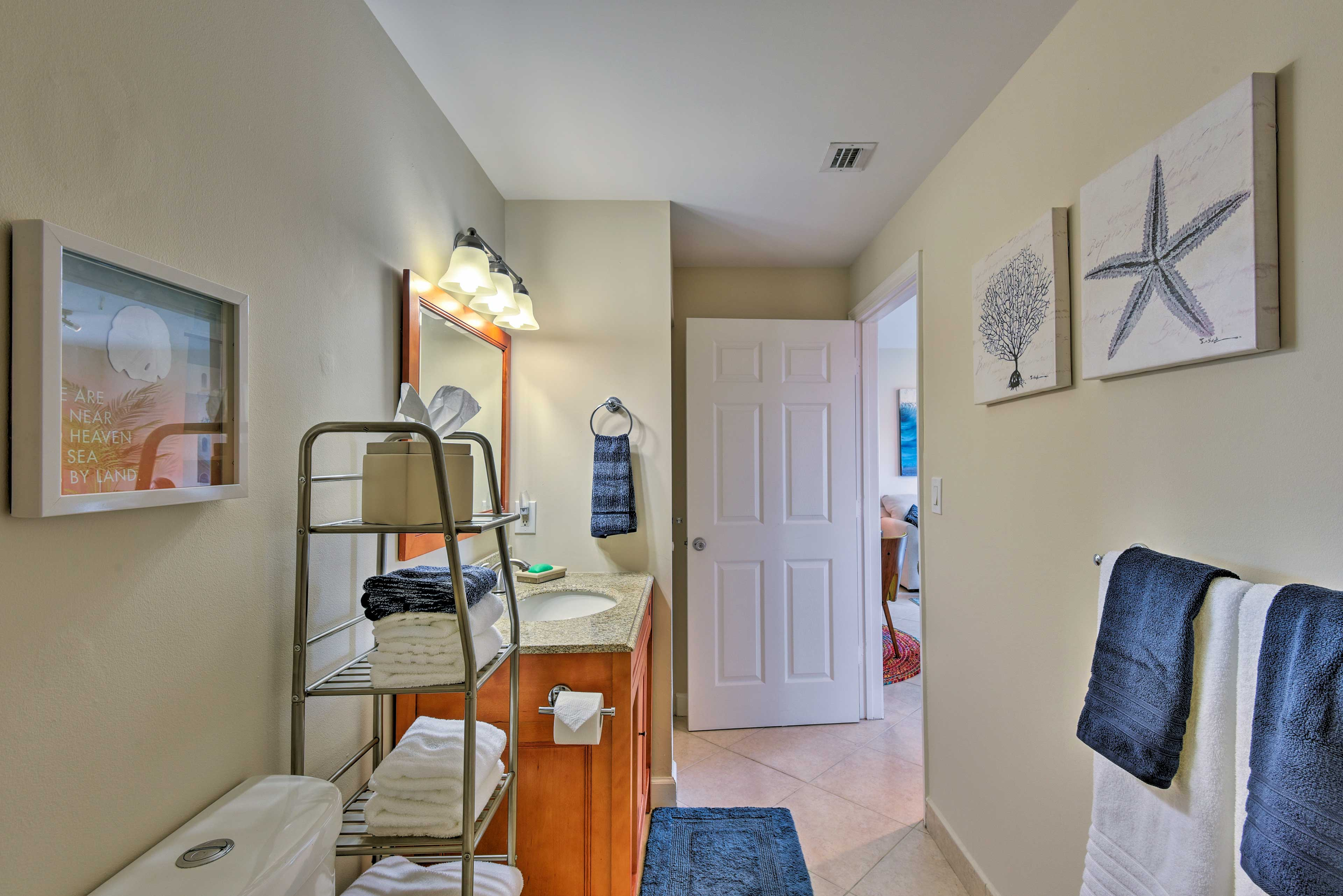 Linens and towels are provided for added convenience.