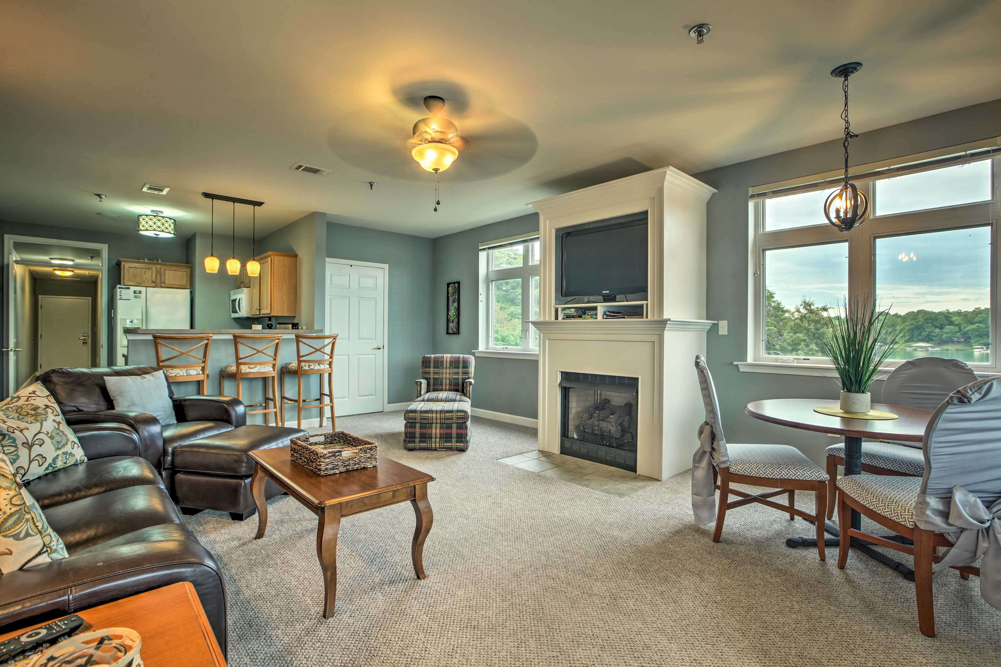 Make yourself at home in the 1,074-square-foot interior.