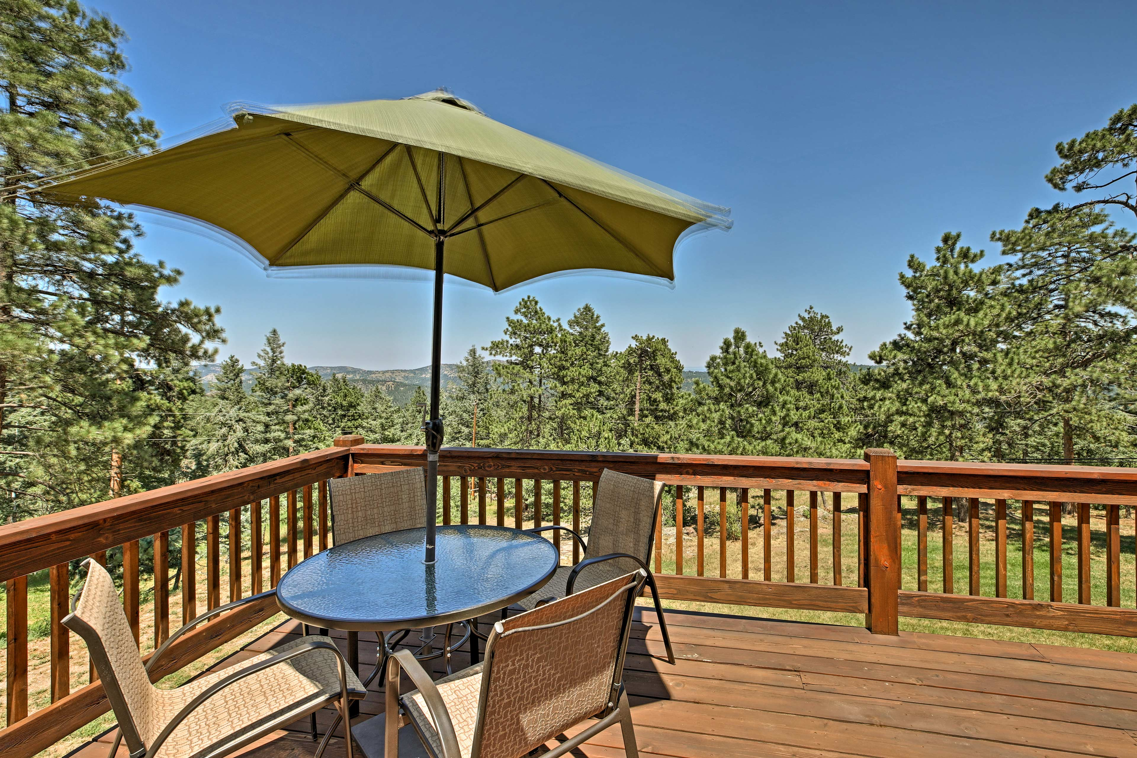 Gaze out at the jaw-dropping views of the mountains.