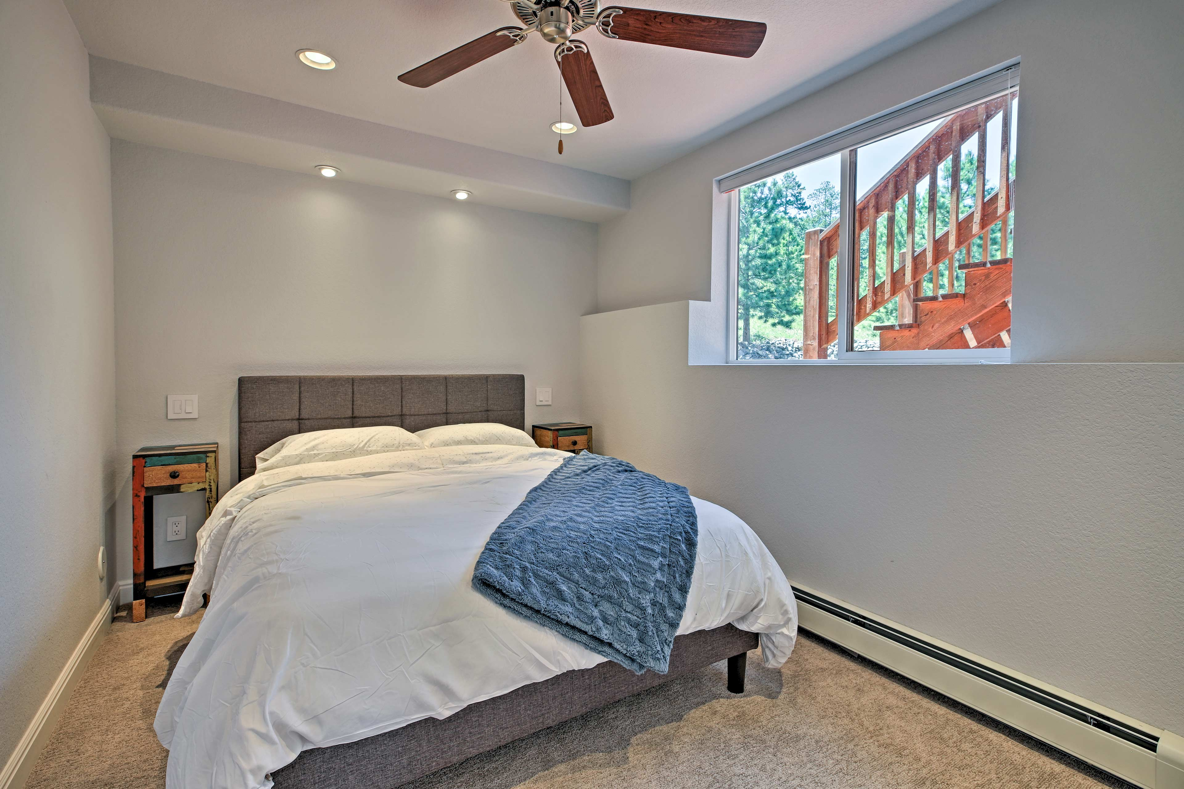 The third and final bedroom has a plush queen bed.