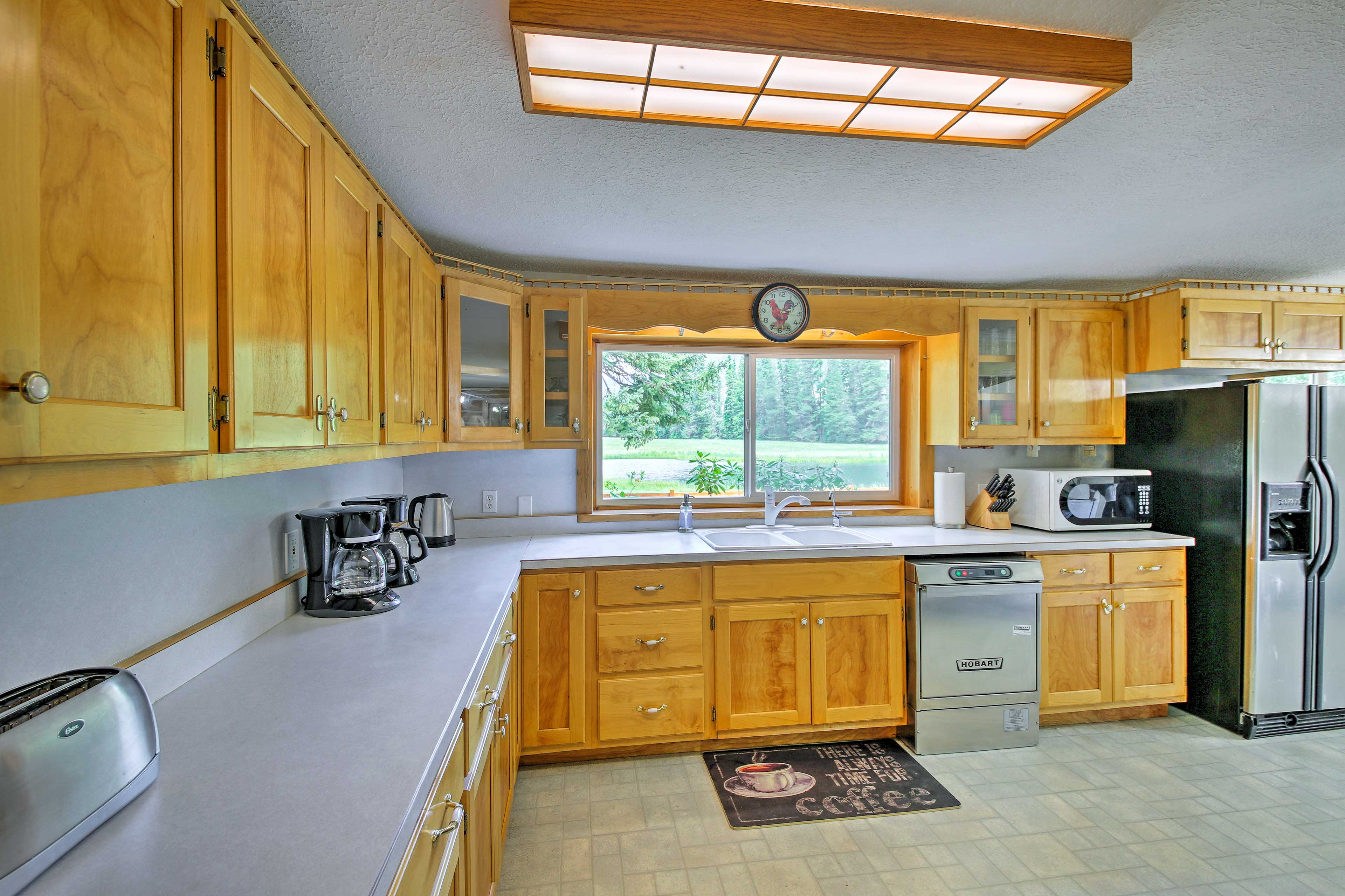 The chef will happily prepare meals in this fully equipped kitchen.