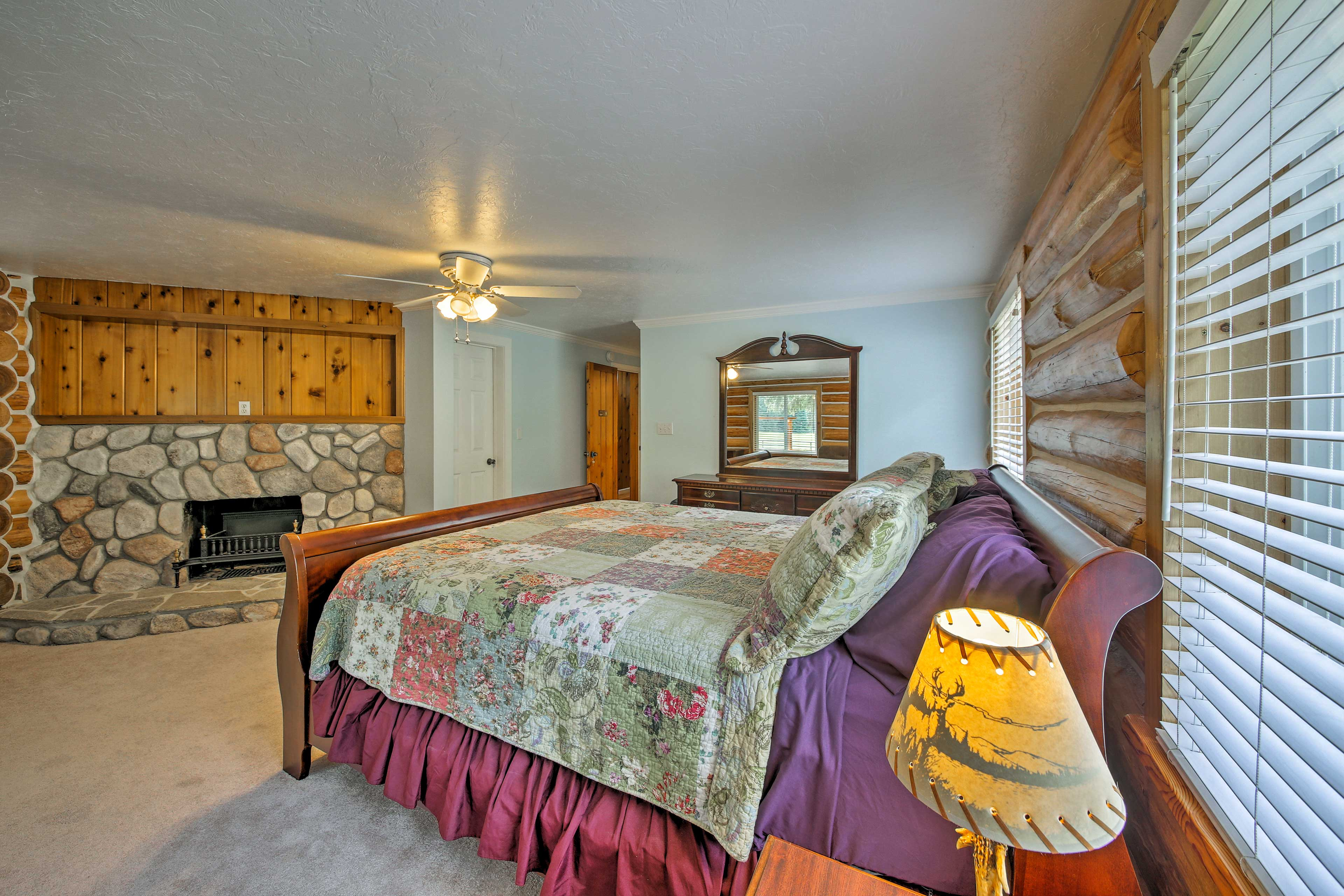 The master bedroom is a private oasis.
