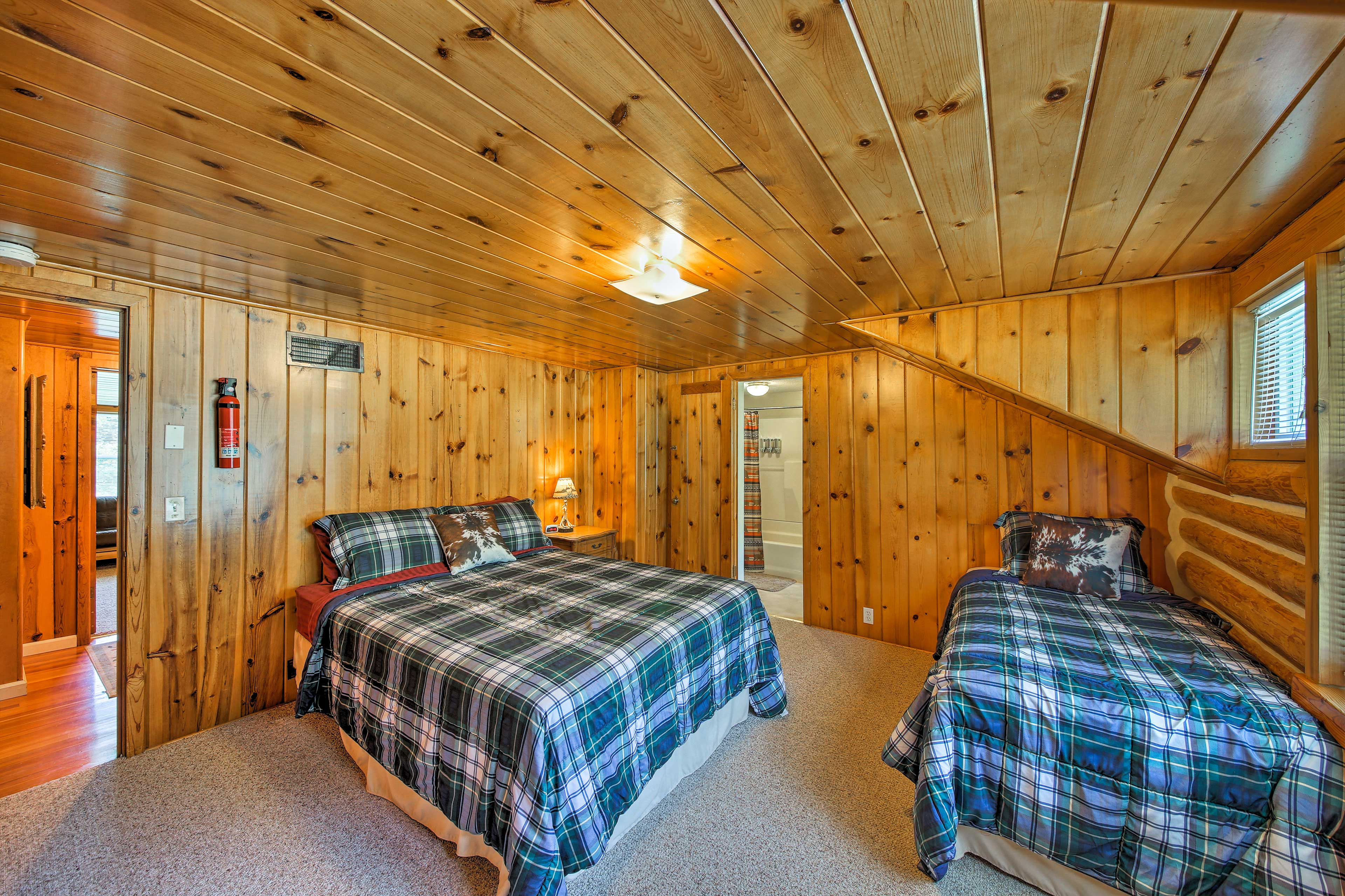 This bedroom is connected via a Jack-and-Jill bathroom.