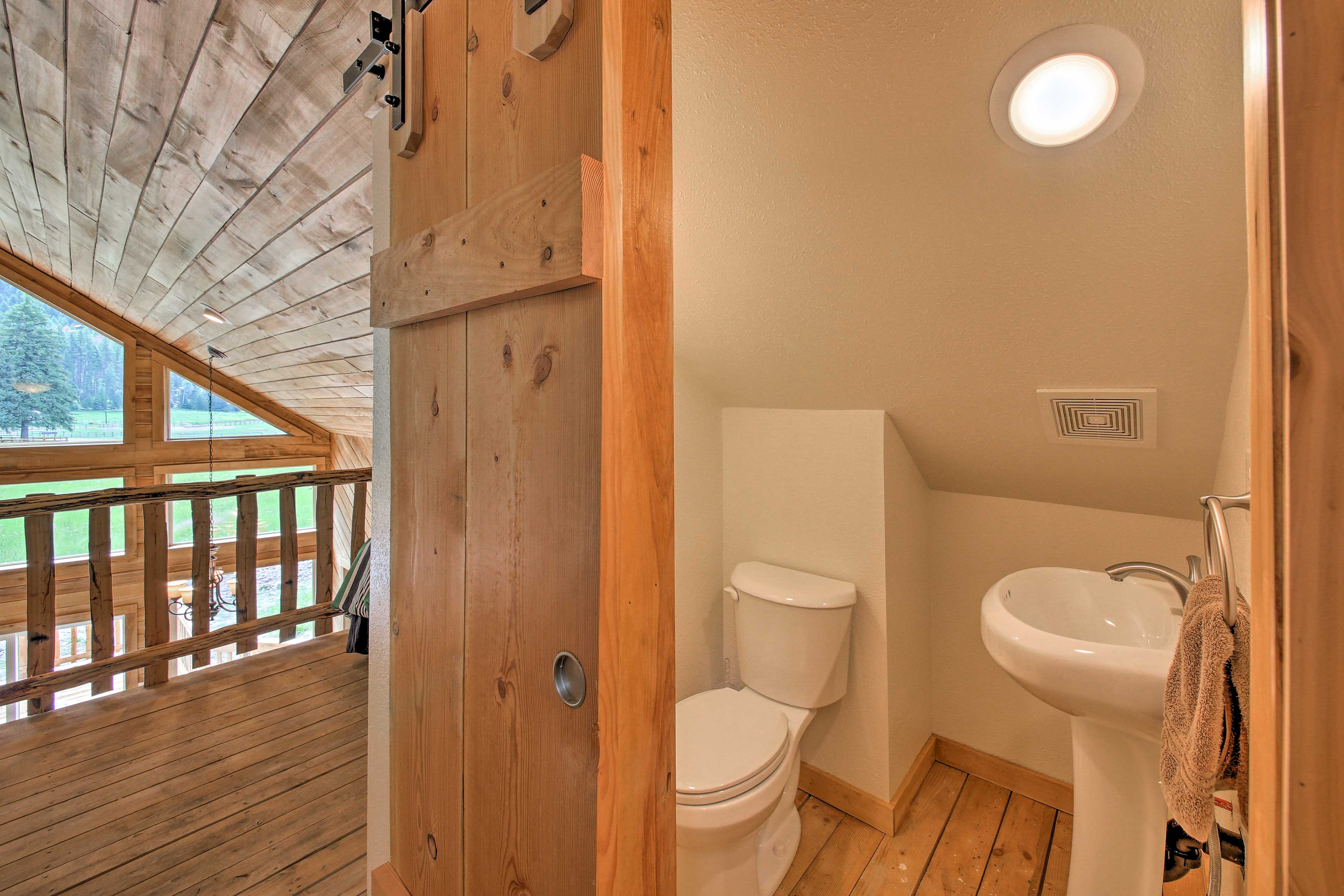 There's a half bathroom off of the loft.