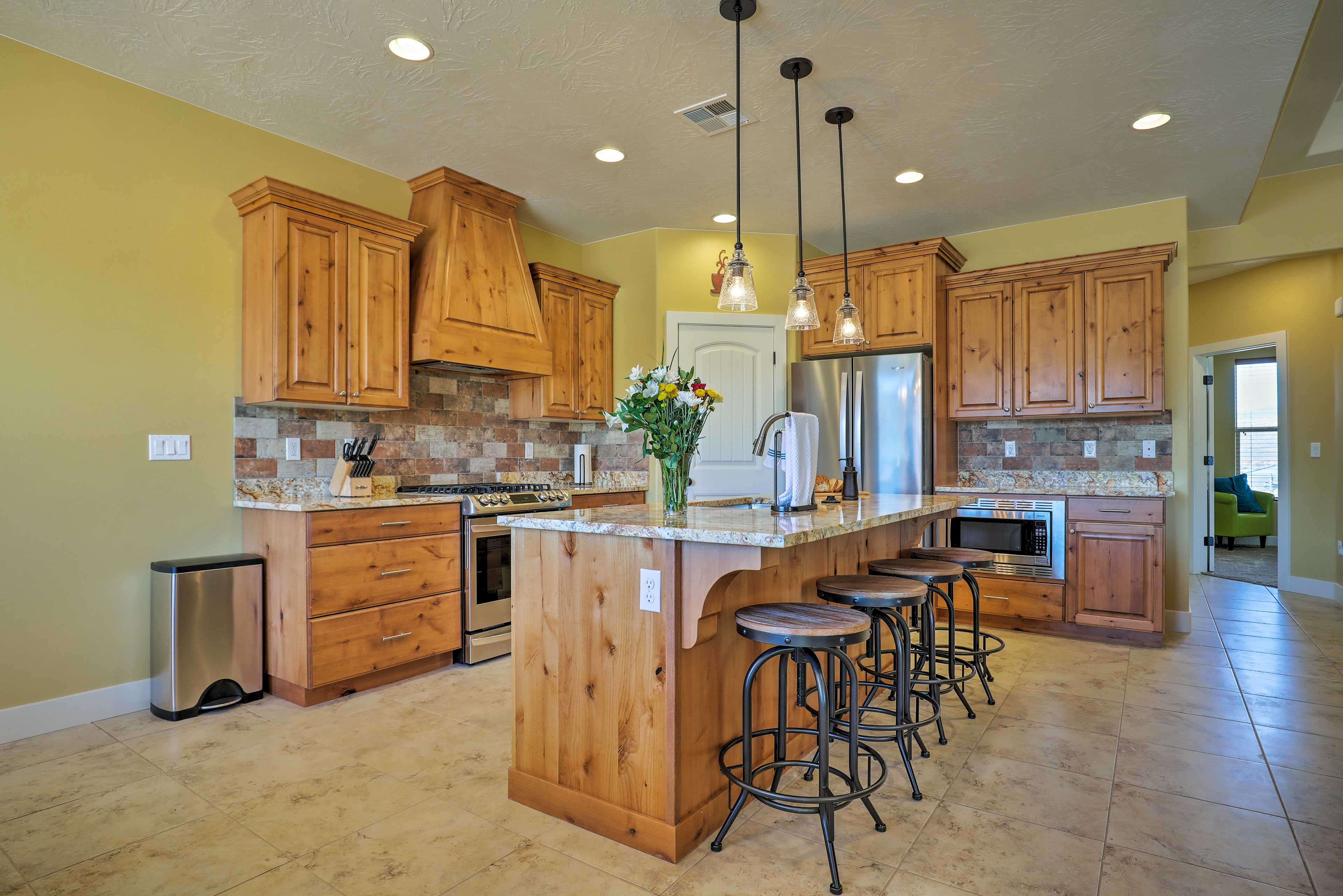 The spacious kitchen is a dream!
